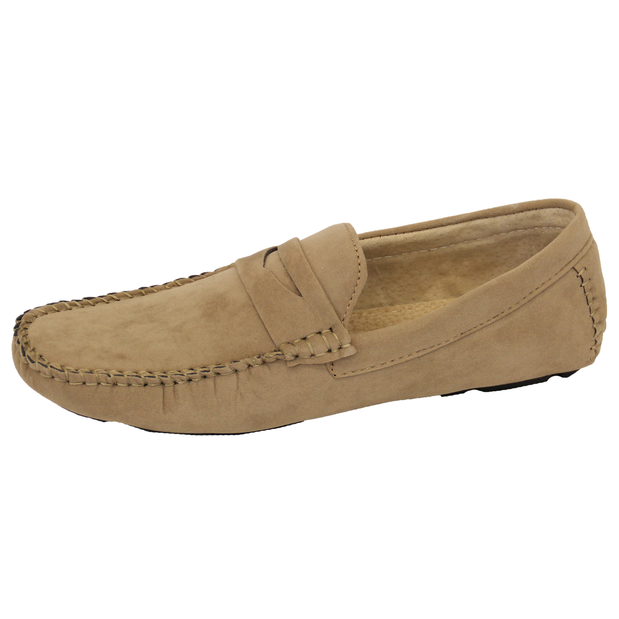 Mens-Moccasins-Suede-Leather-Look-Shoes-Boat-Slip-On-Tassel-Loafers-Smart-Formal thumbnail 3