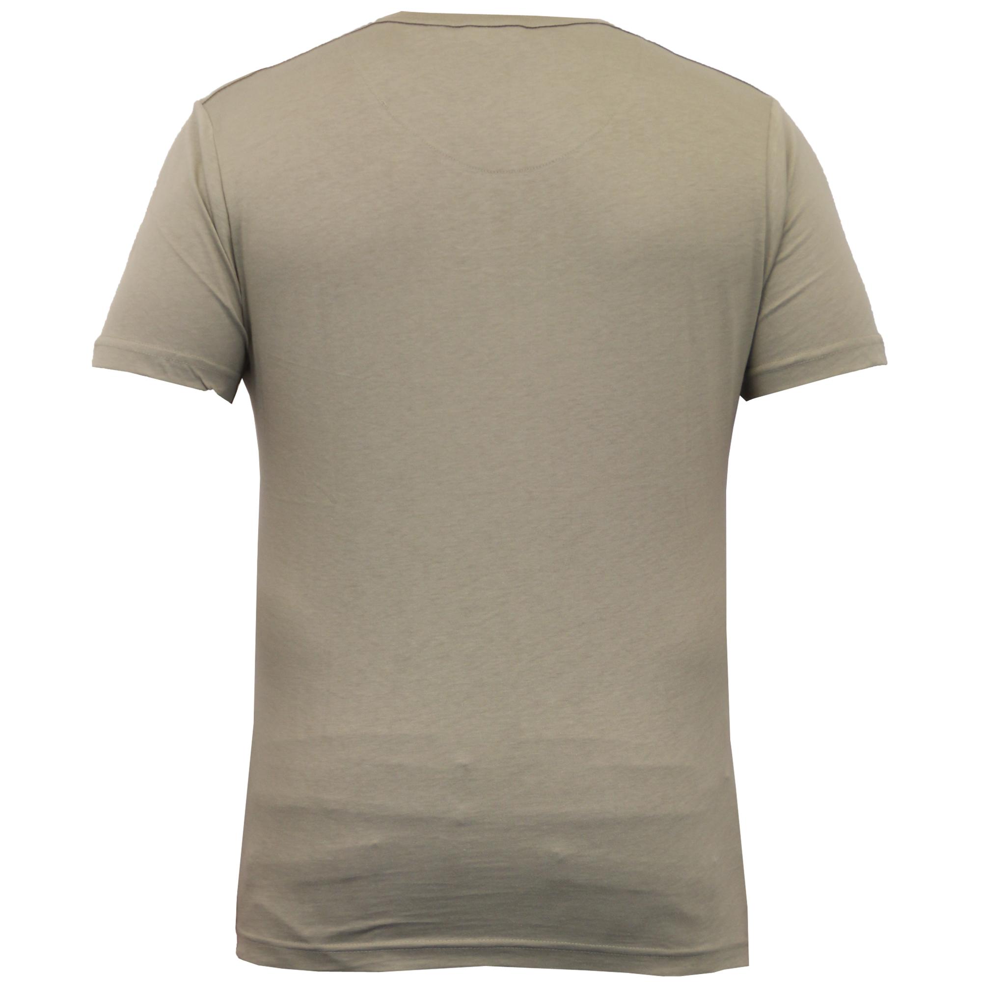 Cuello redondo para hombre Manga Corta Crosshatch Grassmere Top Camiseta informal de algodón