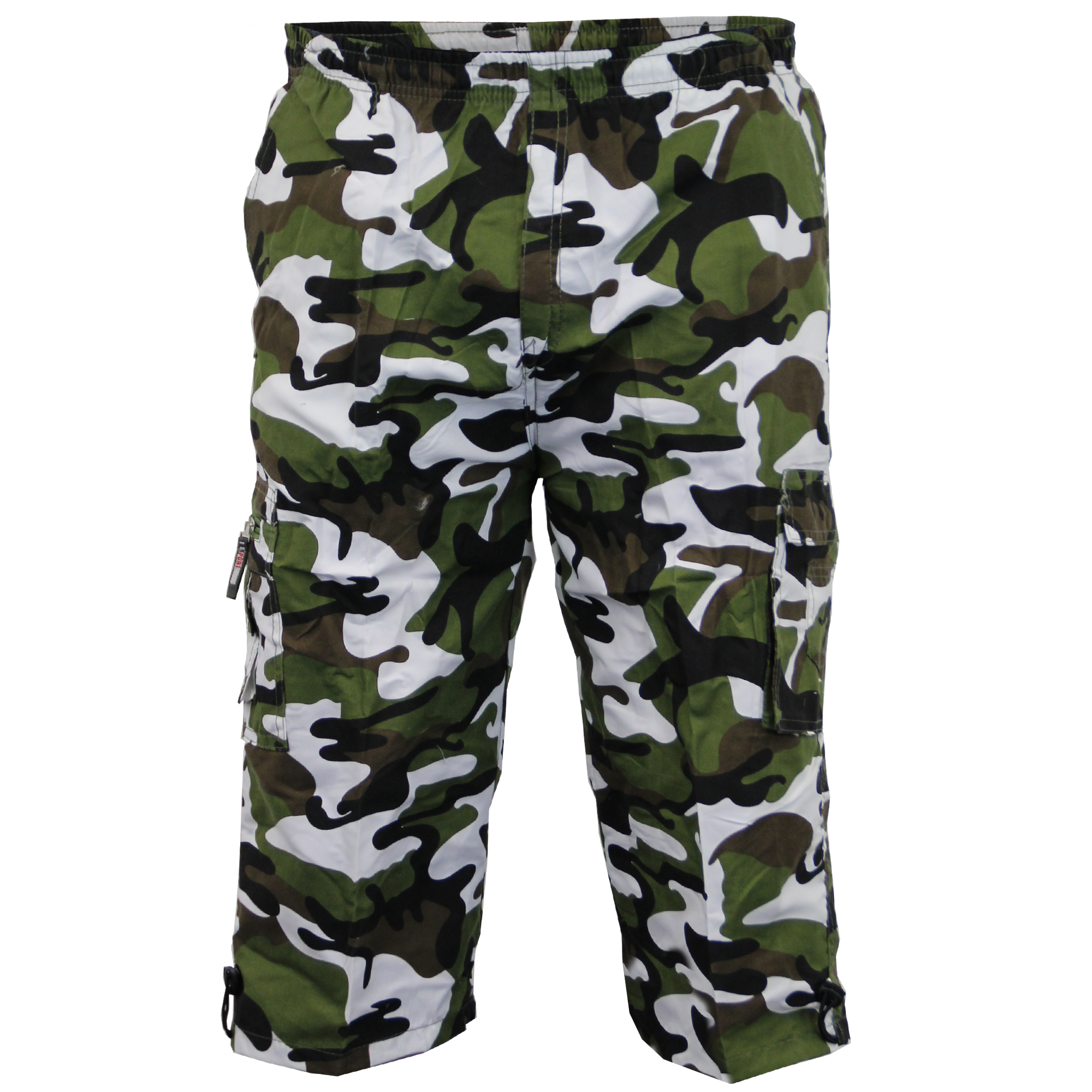 Mens-Camouflage-Combat-Cargo-Shorts-3-4-Length-Army-Military-Sports-Summer-New thumbnail 2