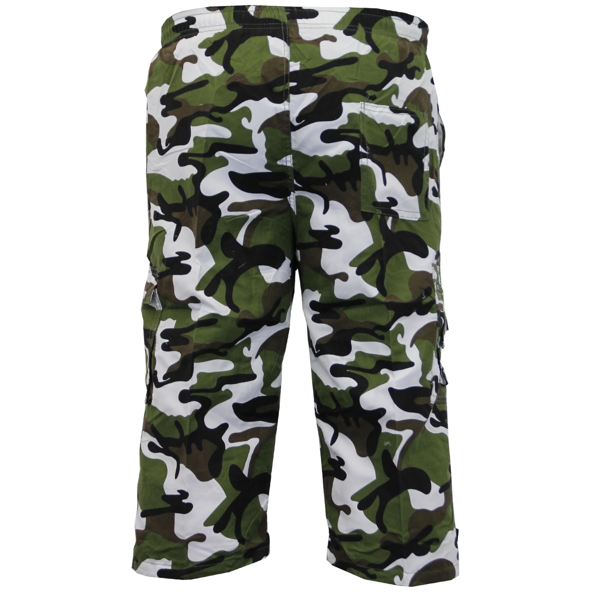 Mens-Camouflage-Combat-Cargo-Shorts-3-4-Length-Army-Military-Sports-Summer-New thumbnail 3