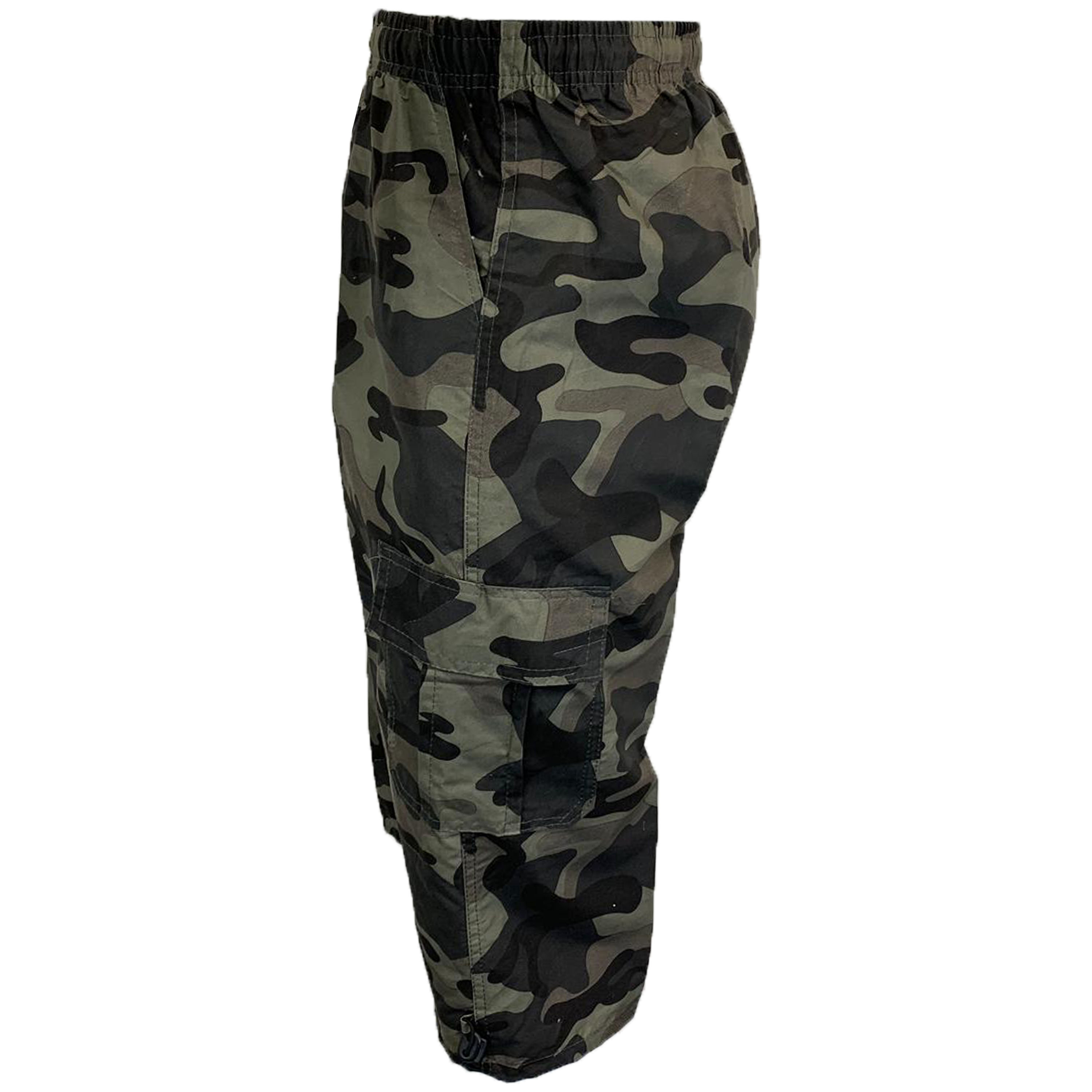 Mens-Camouflage-Combat-Cargo-Shorts-3-4-Length-Army-Military-Sports-Summer-New thumbnail 9