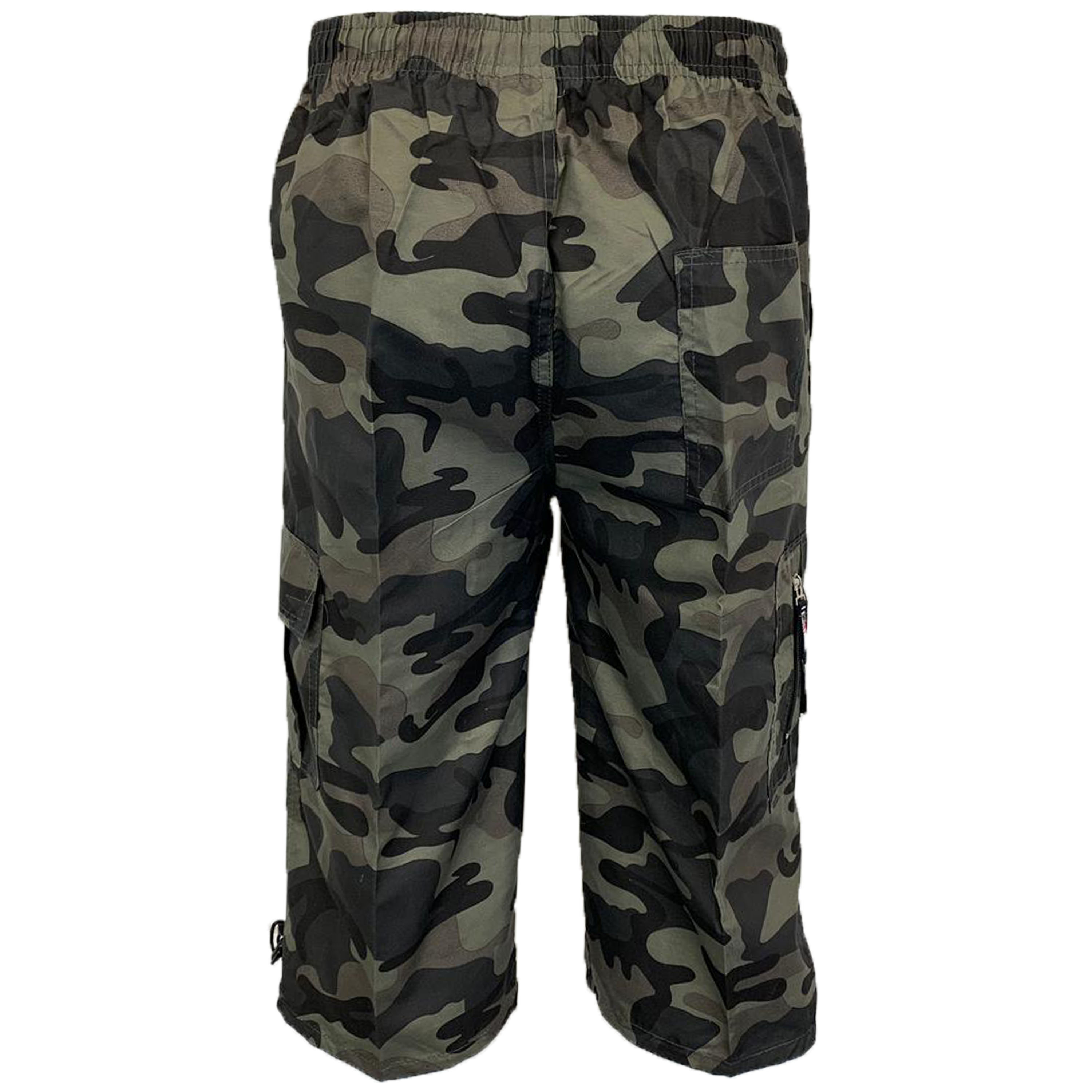 Mens-Camouflage-Combat-Cargo-Shorts-3-4-Length-Army-Military-Sports-Summer-New thumbnail 10