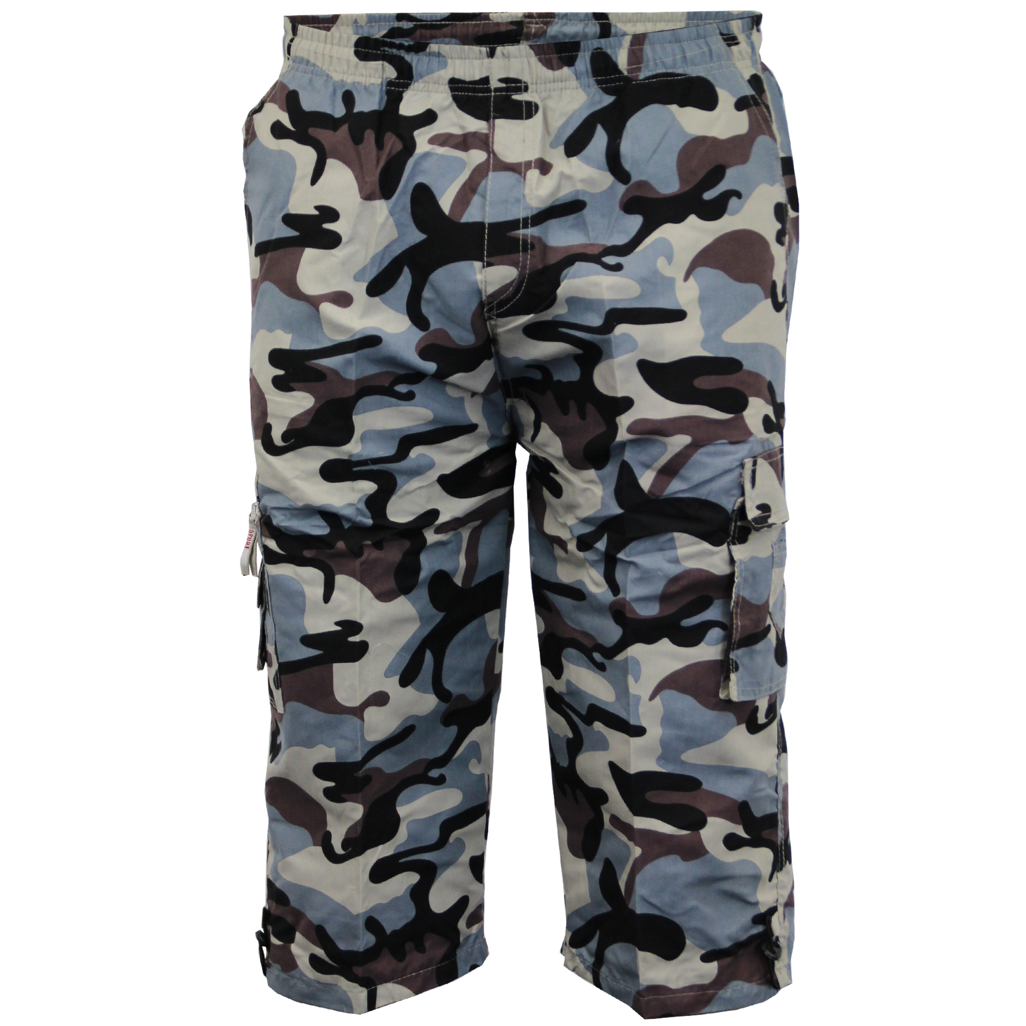 Mens-Camouflage-Combat-Cargo-Shorts-3-4-Length-Army-Military-Sports-Summer-New thumbnail 5