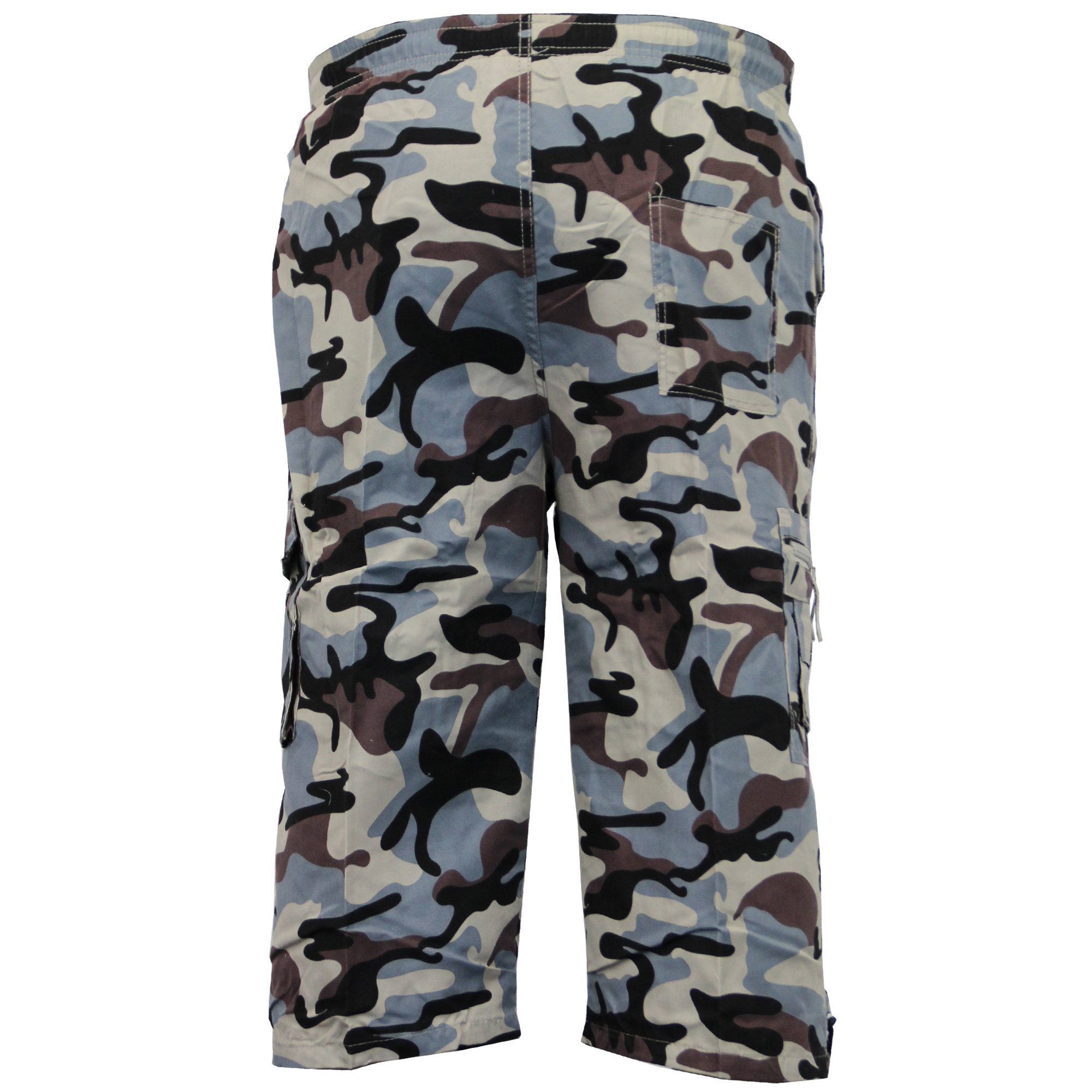 Mens-Camouflage-Combat-Cargo-Shorts-3-4-Length-Army-Military-Sports-Summer-New thumbnail 6