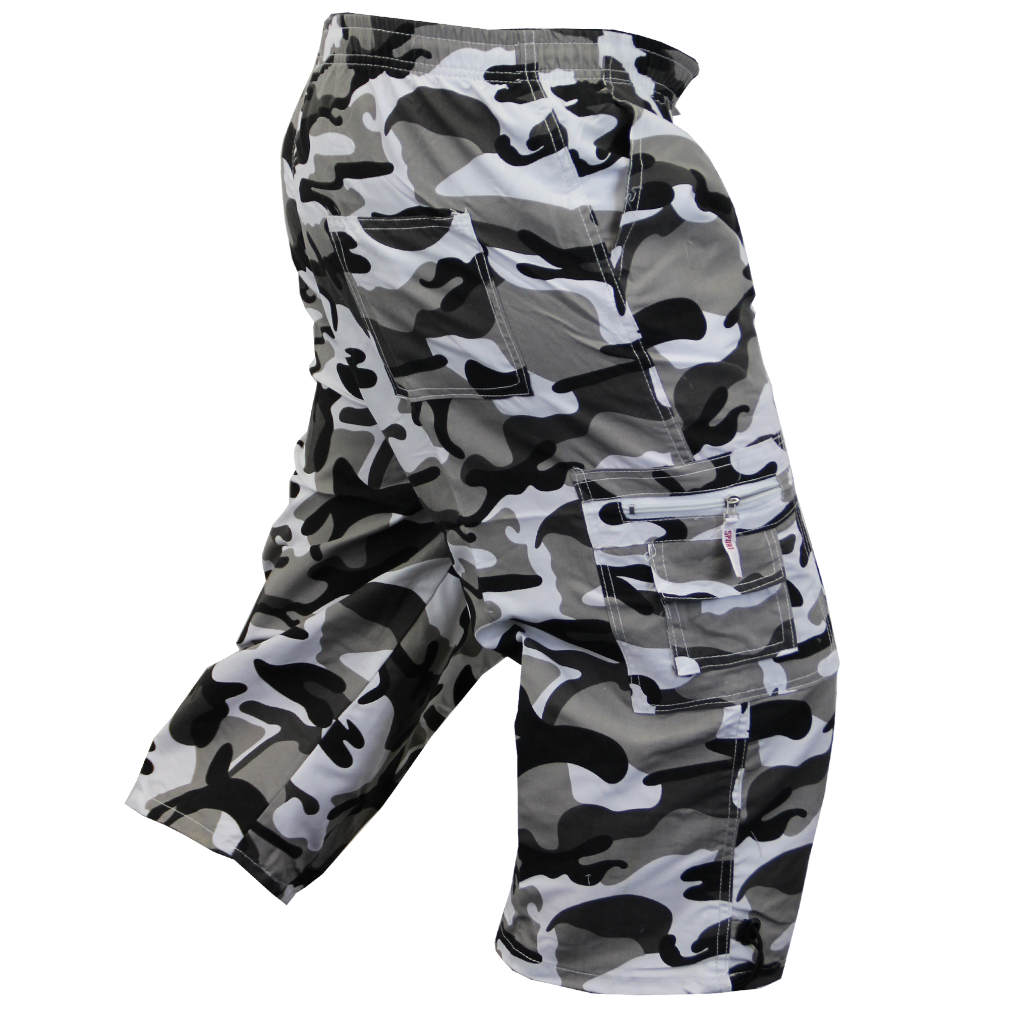 Mens-Camouflage-Combat-Cargo-Shorts-3-4-Length-Army-Military-Sports-Summer-New thumbnail 13
