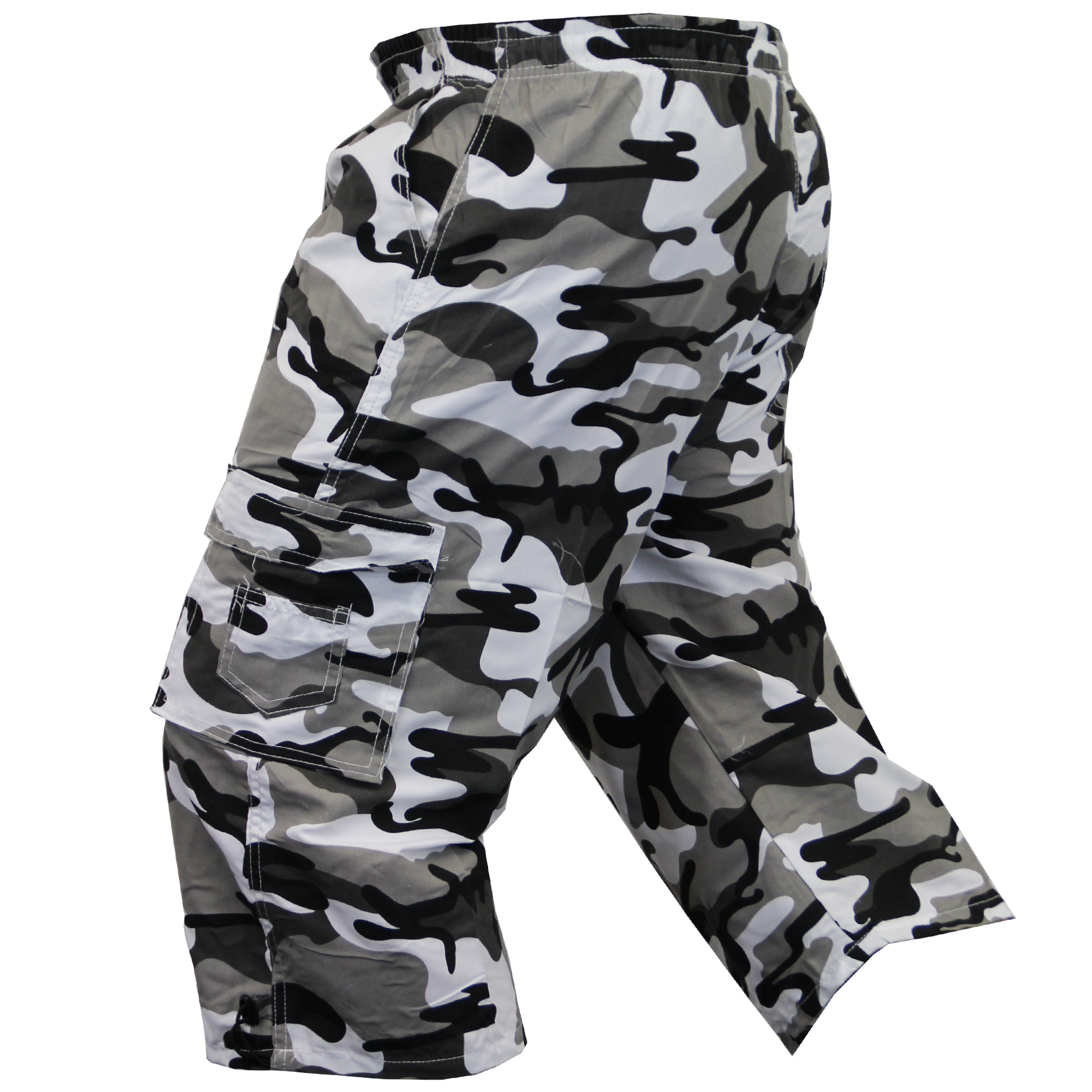 Mens-Camouflage-Combat-Cargo-Shorts-3-4-Length-Army-Military-Sports-Summer-New thumbnail 14