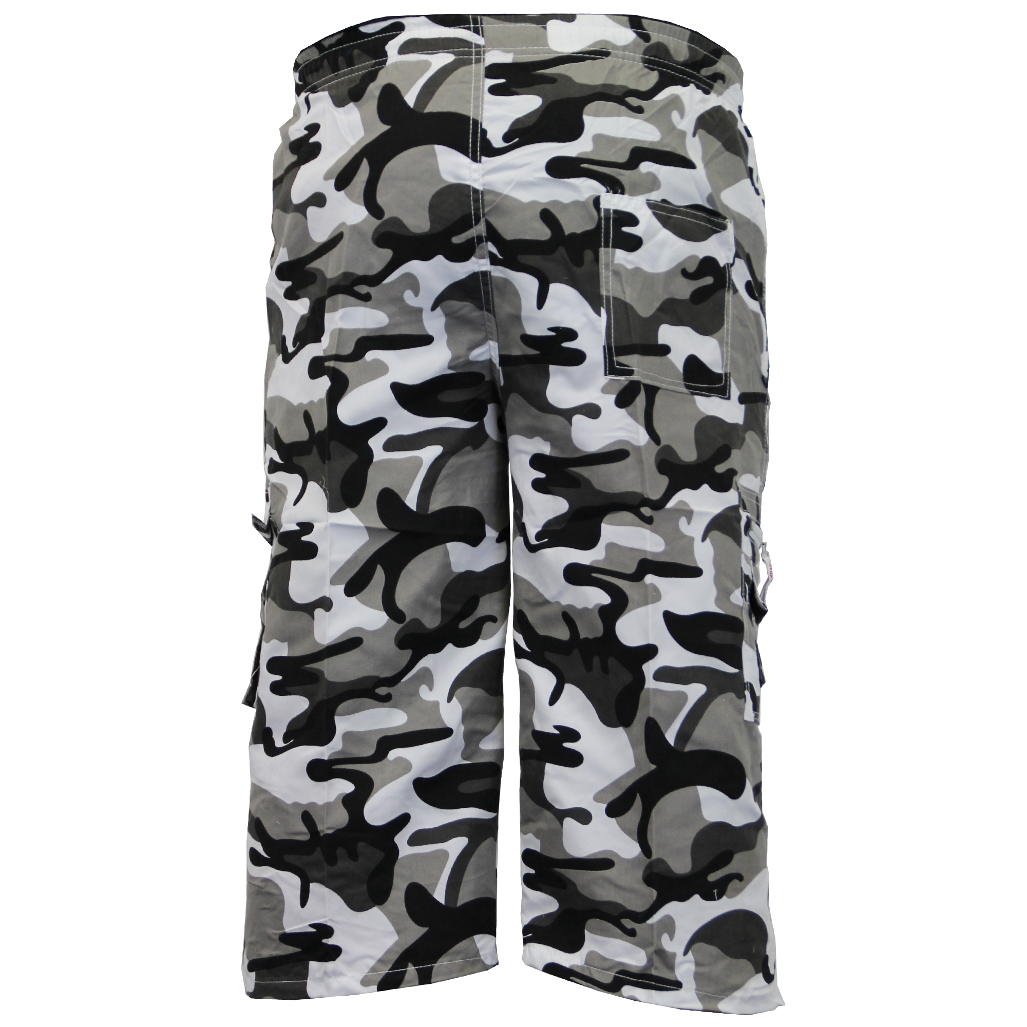 Mens-Camouflage-Combat-Cargo-Shorts-3-4-Length-Army-Military-Sports-Summer-New thumbnail 15