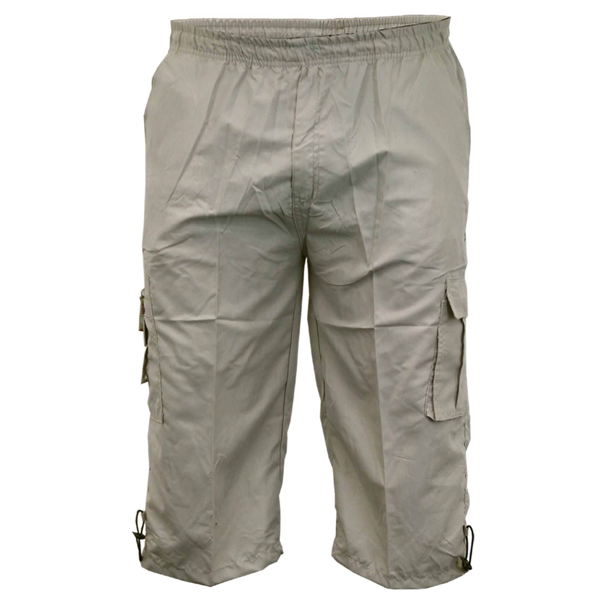 Mens-Combat-Cargo-Shorts-3-4-Length-Plain-Sport-Fashion-Casual-Summer-New thumbnail 18