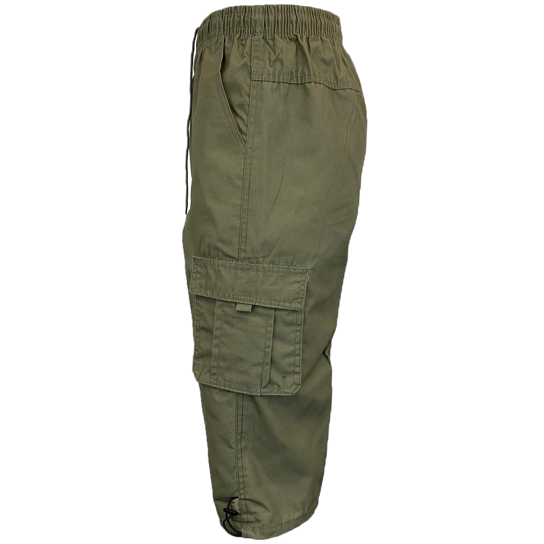 Mens-Combat-Cargo-Shorts-3-4-Length-Plain-Sport-Fashion-Casual-Summer-New thumbnail 12