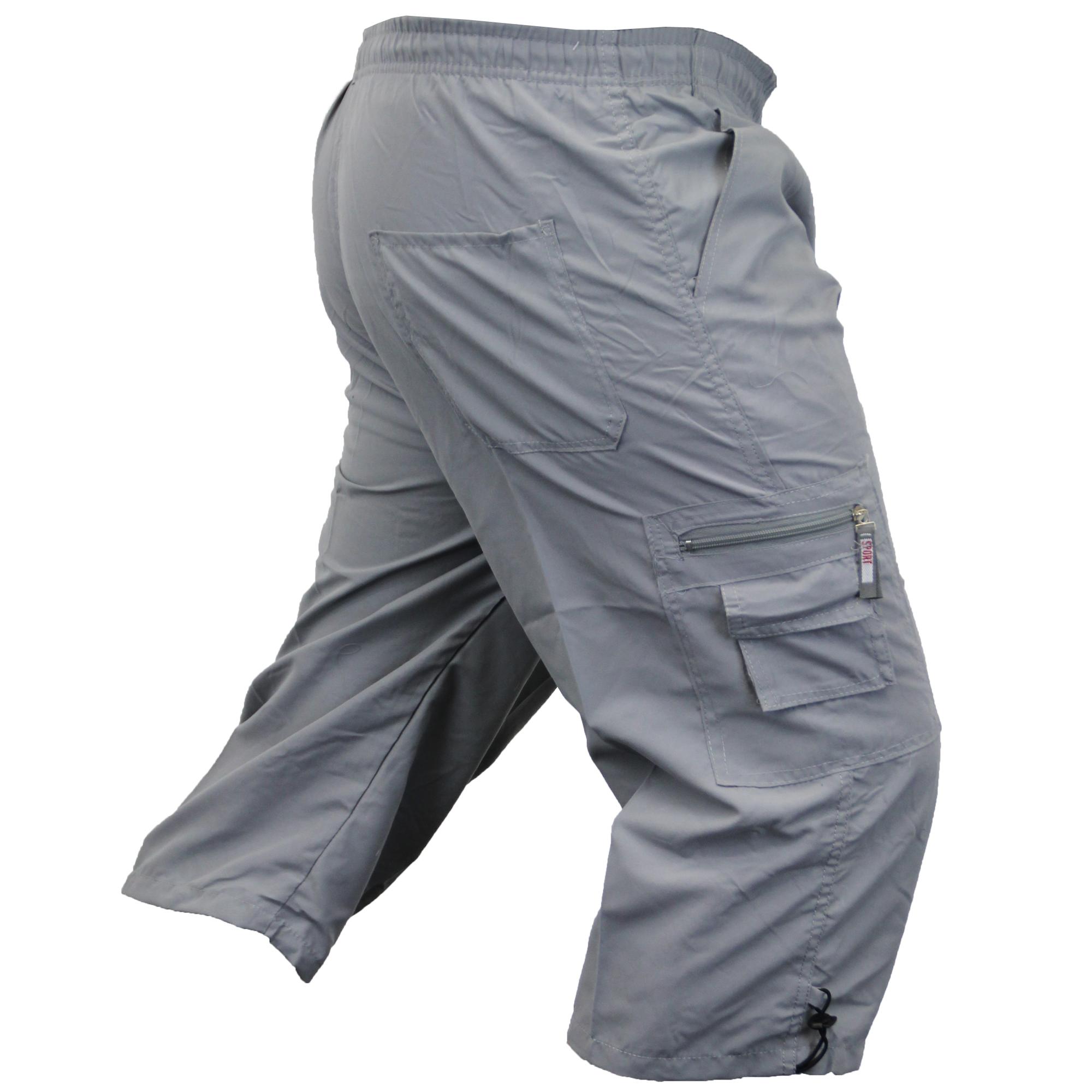 Mens-Combat-Cargo-Shorts-3-4-Length-Plain-Sport-Fashion-Casual-Summer-New thumbnail 7