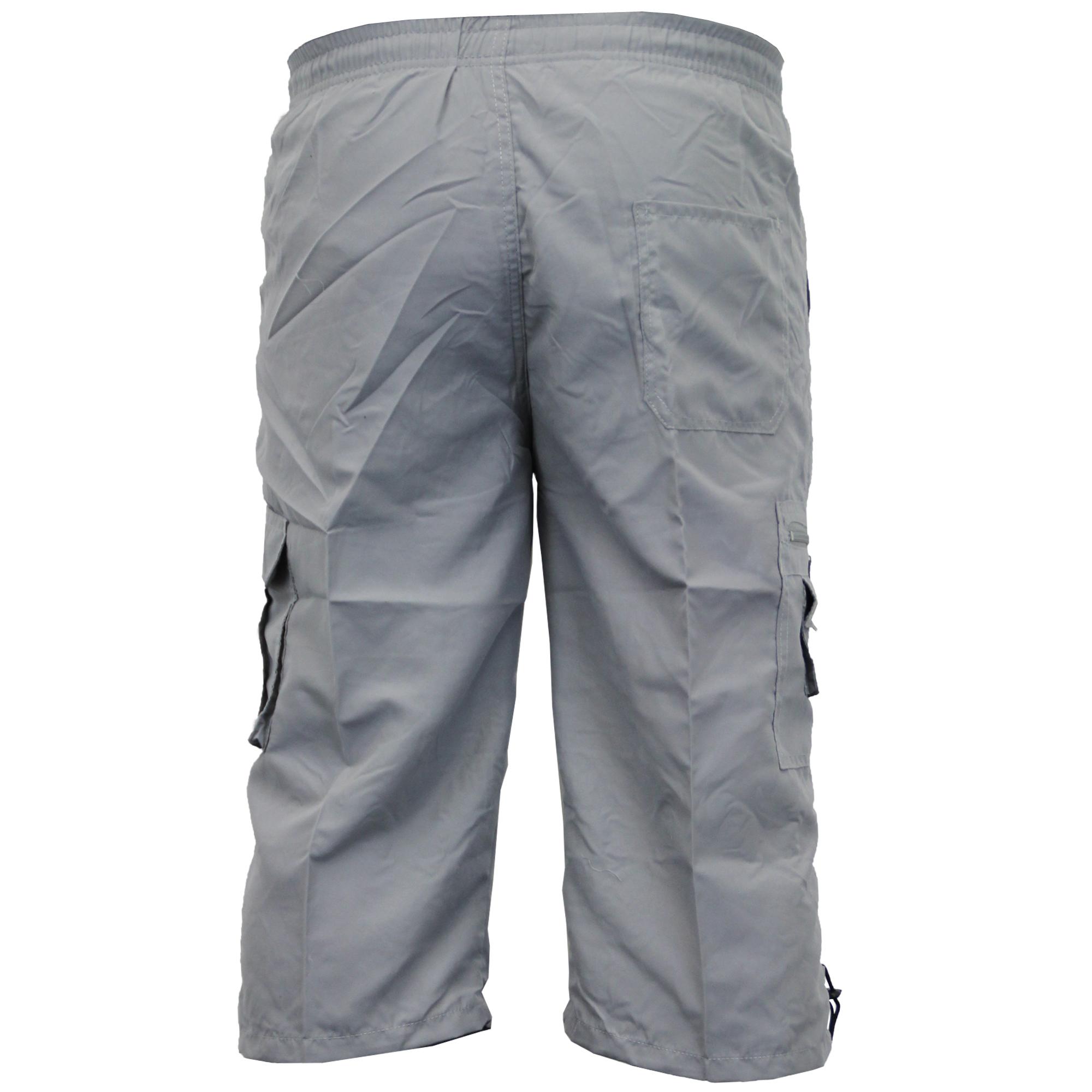 Mens-Combat-Cargo-Shorts-3-4-Length-Plain-Sport-Fashion-Casual-Summer-New thumbnail 9