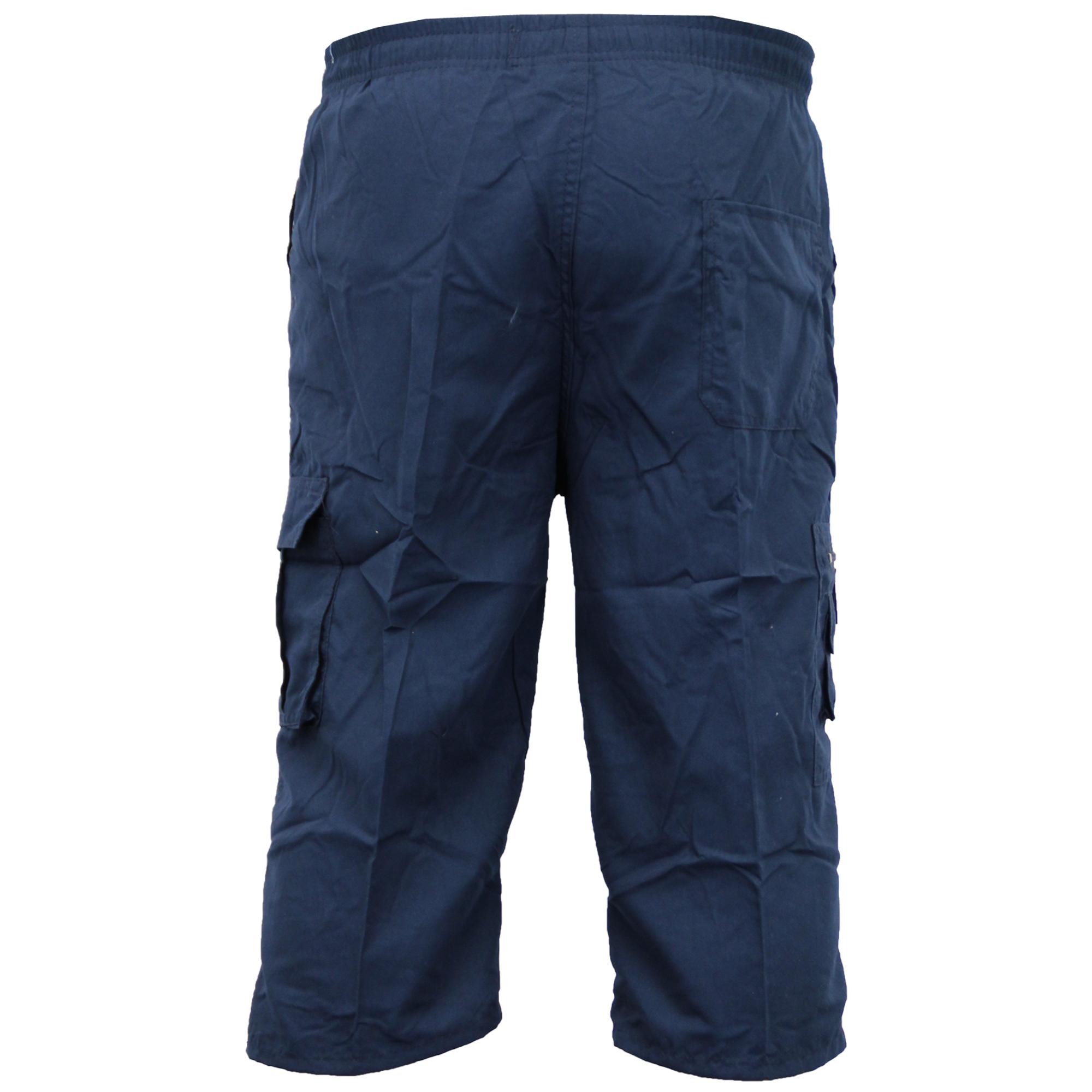 Mens-Combat-Cargo-Shorts-3-4-Length-Plain-Sport-Fashion-Casual-Summer-New thumbnail 16