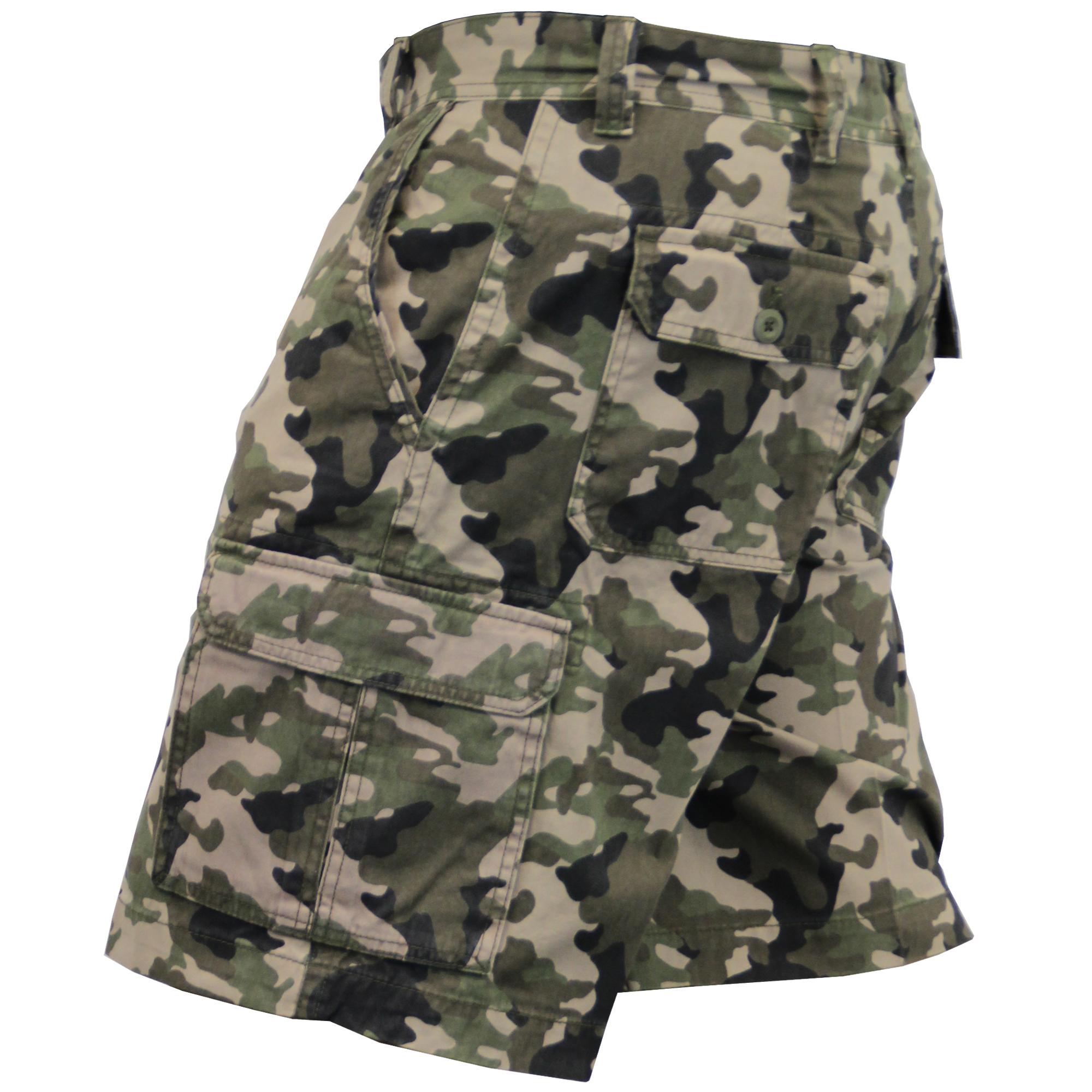 Para-Hombre-Pantalones-Cortos-Estilo-Cargo-De-Camuflaje-Combate-Largo-Hasta-La-Rodilla-Militar miniatura 7