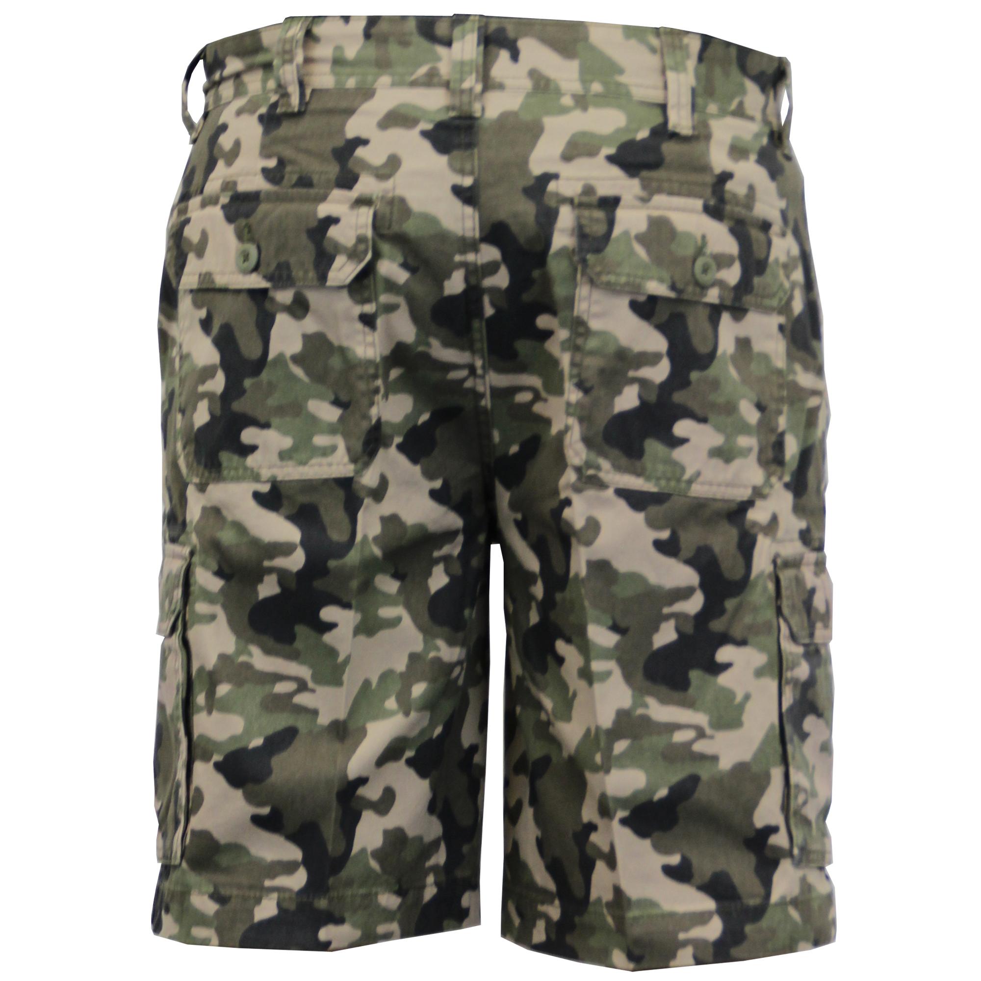 Para-Hombre-Pantalones-Cortos-Estilo-Cargo-De-Camuflaje-Combate-Largo-Hasta-La-Rodilla-Militar miniatura 8