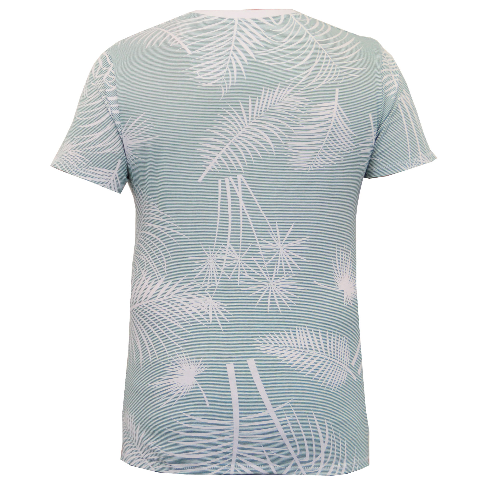 601353de74d Mens Hawaii T Shirt Threadbare Palm Tree Miami Surf Striped Print ...