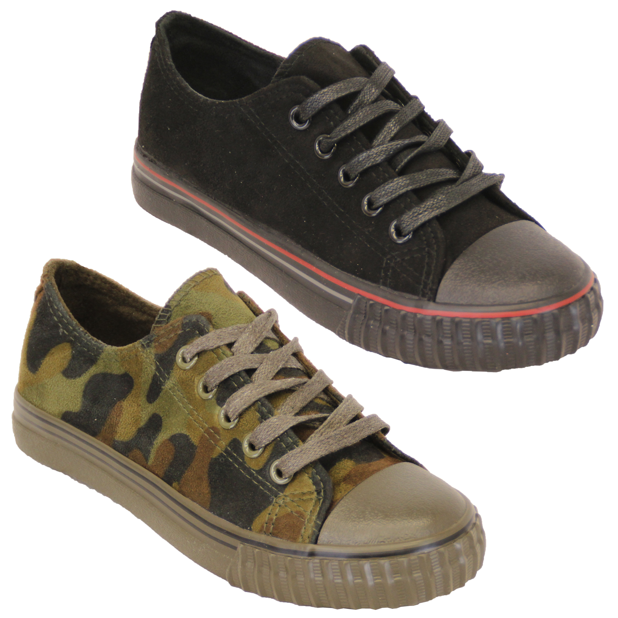 Boys-Girls-Camouflage-Pumps-Kids-Military-Trainers-Lace-Up-Shoes-Casual-Summer thumbnail 5
