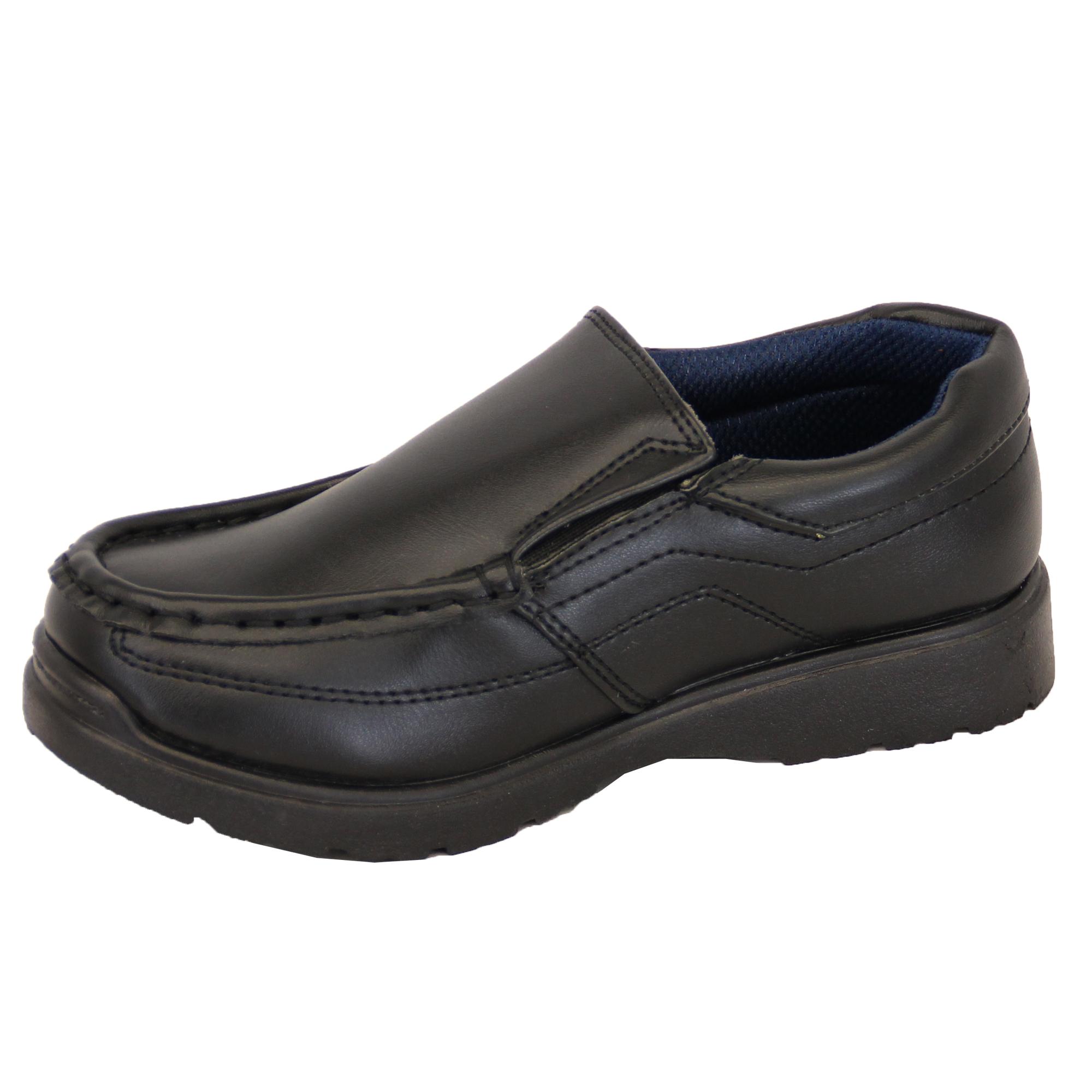 904539b3 Niño Escuela Zapatos Negros los Niños Pequeños Mocasines de Vestir ...