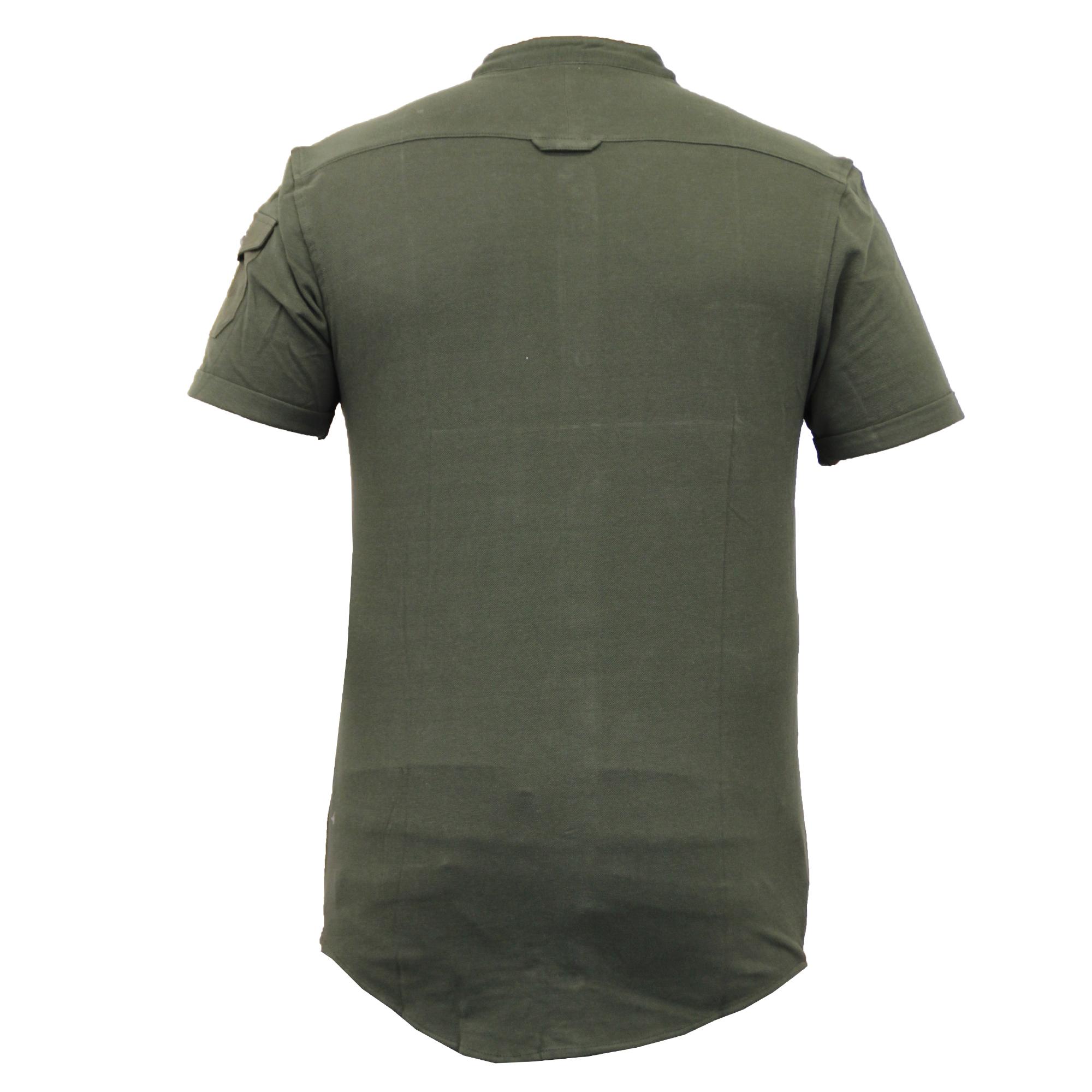 Mens-Linen-Shirt-Threadbare-Short-Sleeved-Brave-Soul-Collared-Casual-Summer-New thumbnail 7