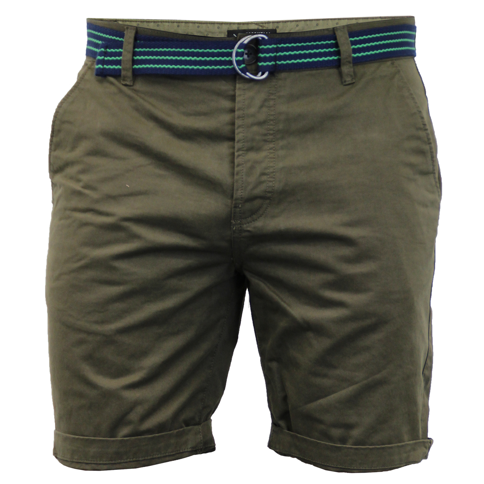 Mens-Chino-Shorts-Threadbare-Belted-Westace-Pants-Knee-Length-Roll-Up-Summer-New thumbnail 2