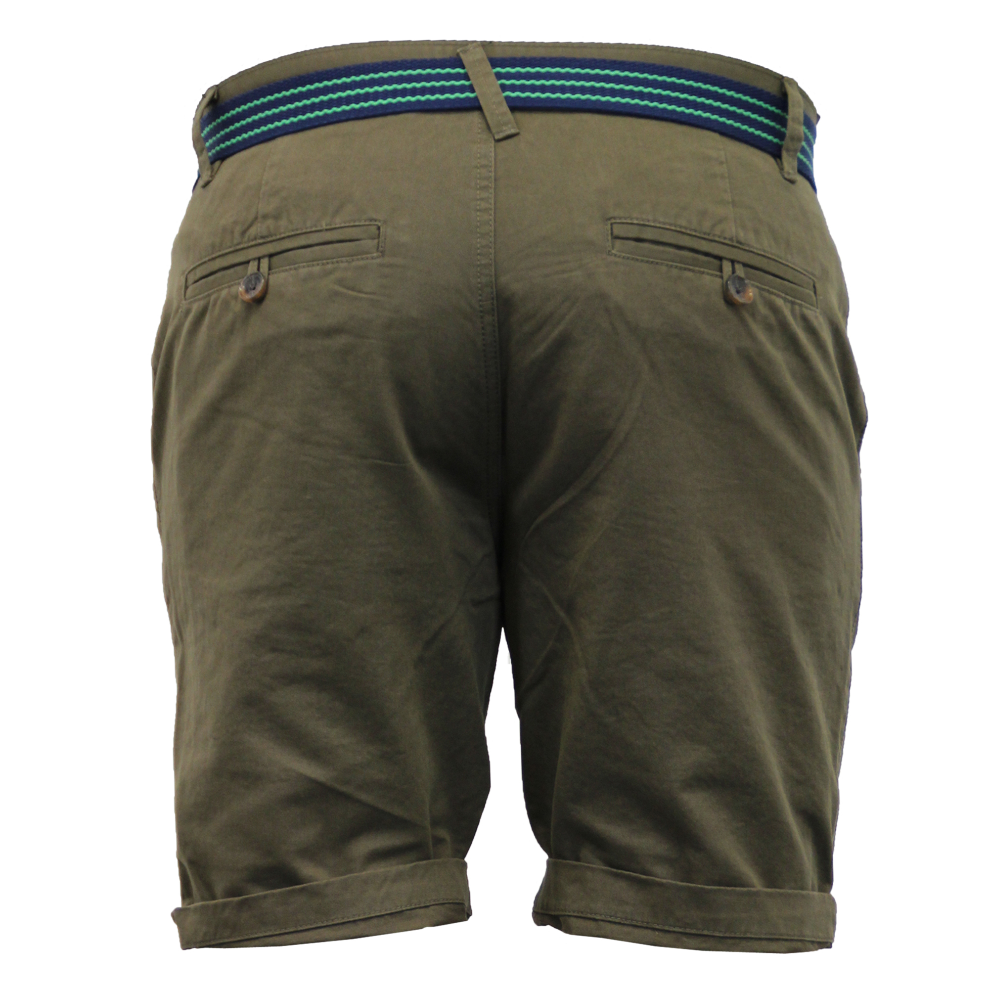 Mens-Chino-Shorts-Threadbare-Belted-Westace-Pants-Knee-Length-Roll-Up-Summer-New thumbnail 3