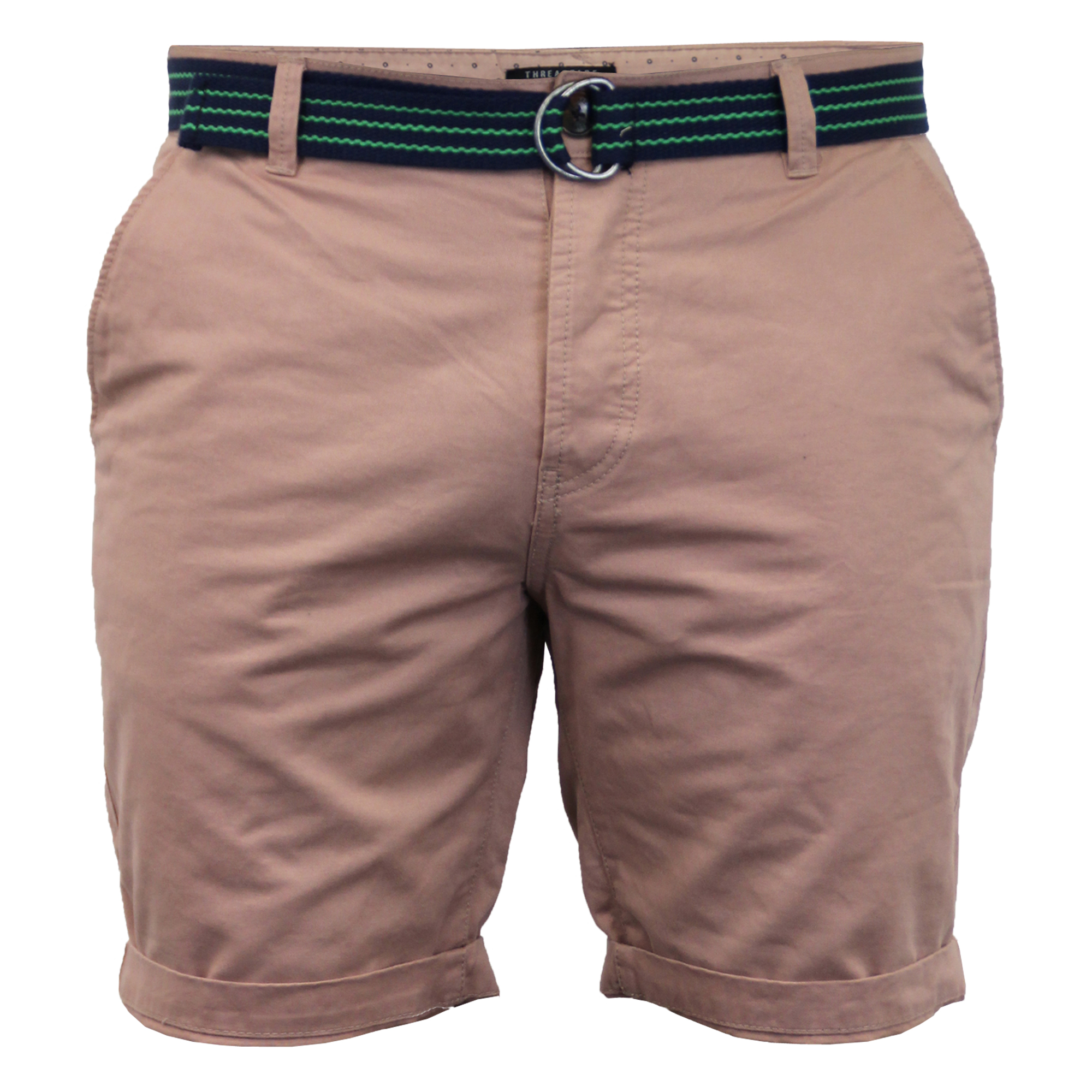 Mens-Chino-Shorts-Threadbare-Belted-Westace-Pants-Knee-Length-Roll-Up-Summer-New thumbnail 10
