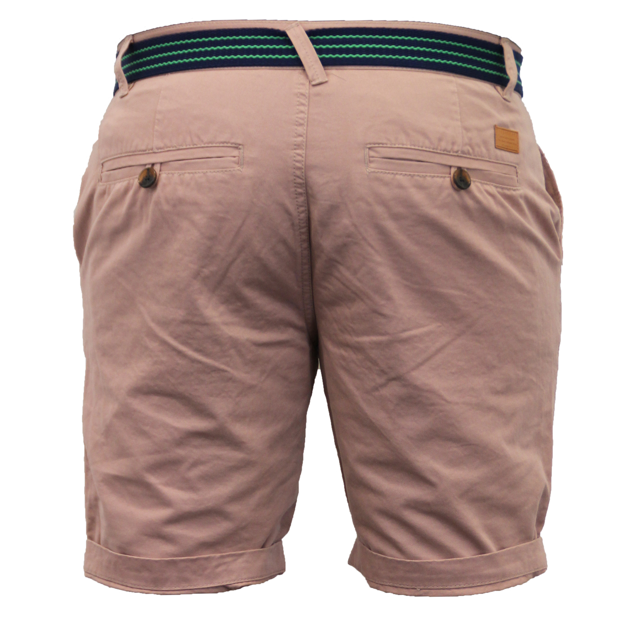Mens-Chino-Shorts-Threadbare-Belted-Westace-Pants-Knee-Length-Roll-Up-Summer-New thumbnail 11