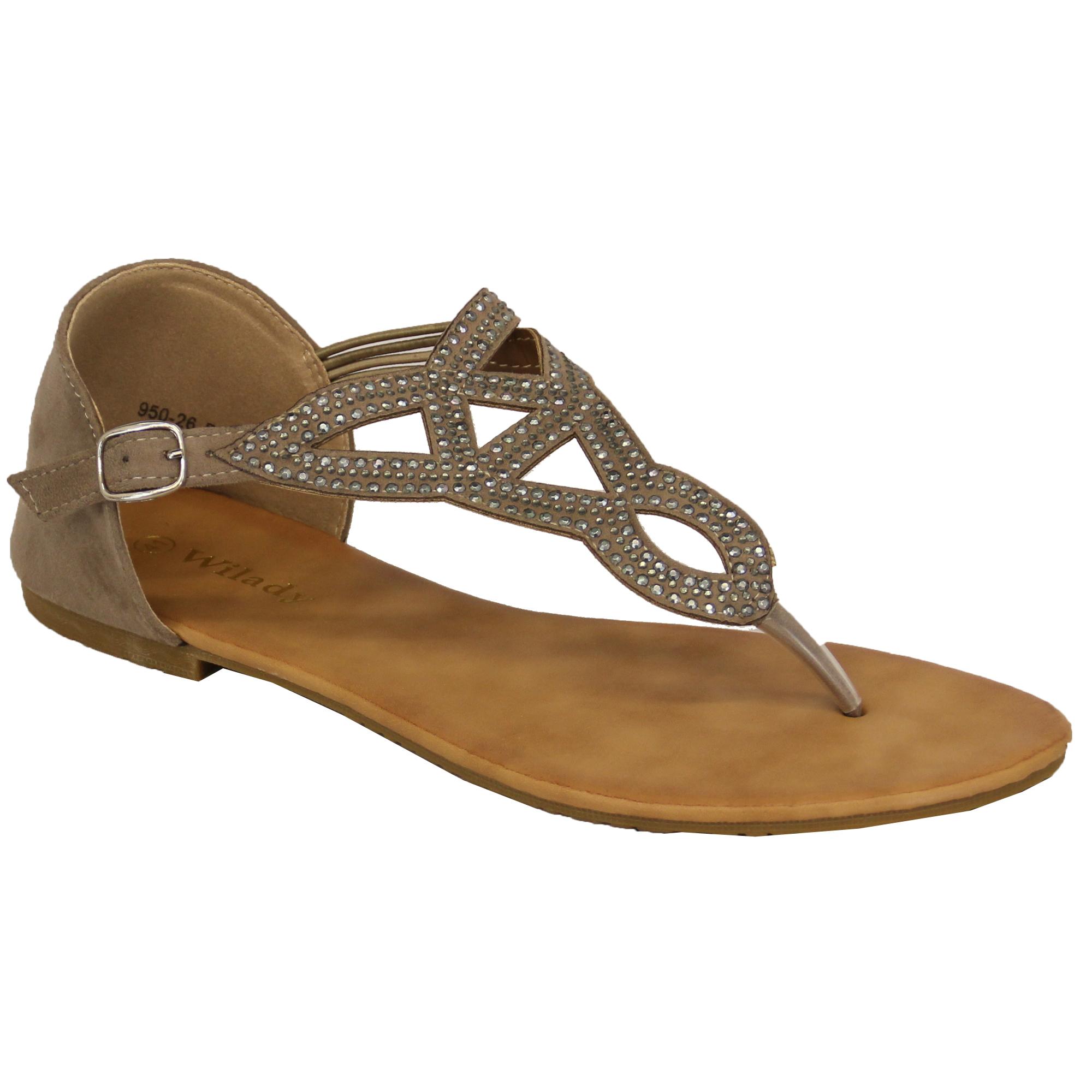 Sandali eleganti • Ladies  da Wilady • Tracolla regolabile con chiusura a  fibbia. • Diamante   dettaglio borchie sulla parte anteriore. 9723a522bc5
