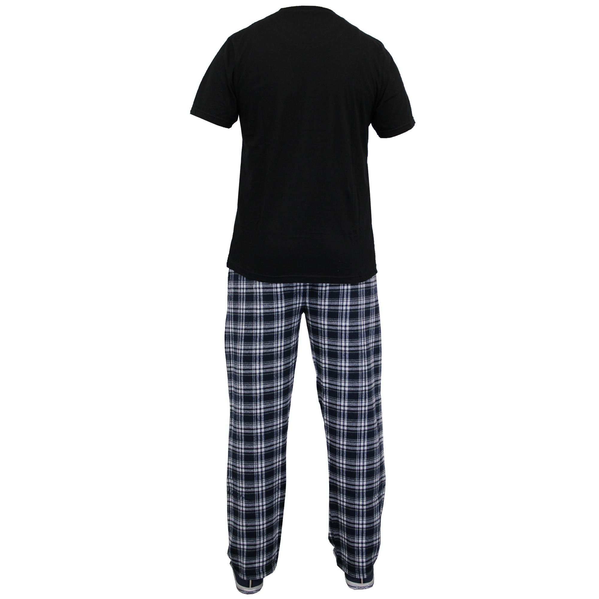 Brave Soul Mens Loungewear Top /& Bottom Check Pyjama Nightwear Set