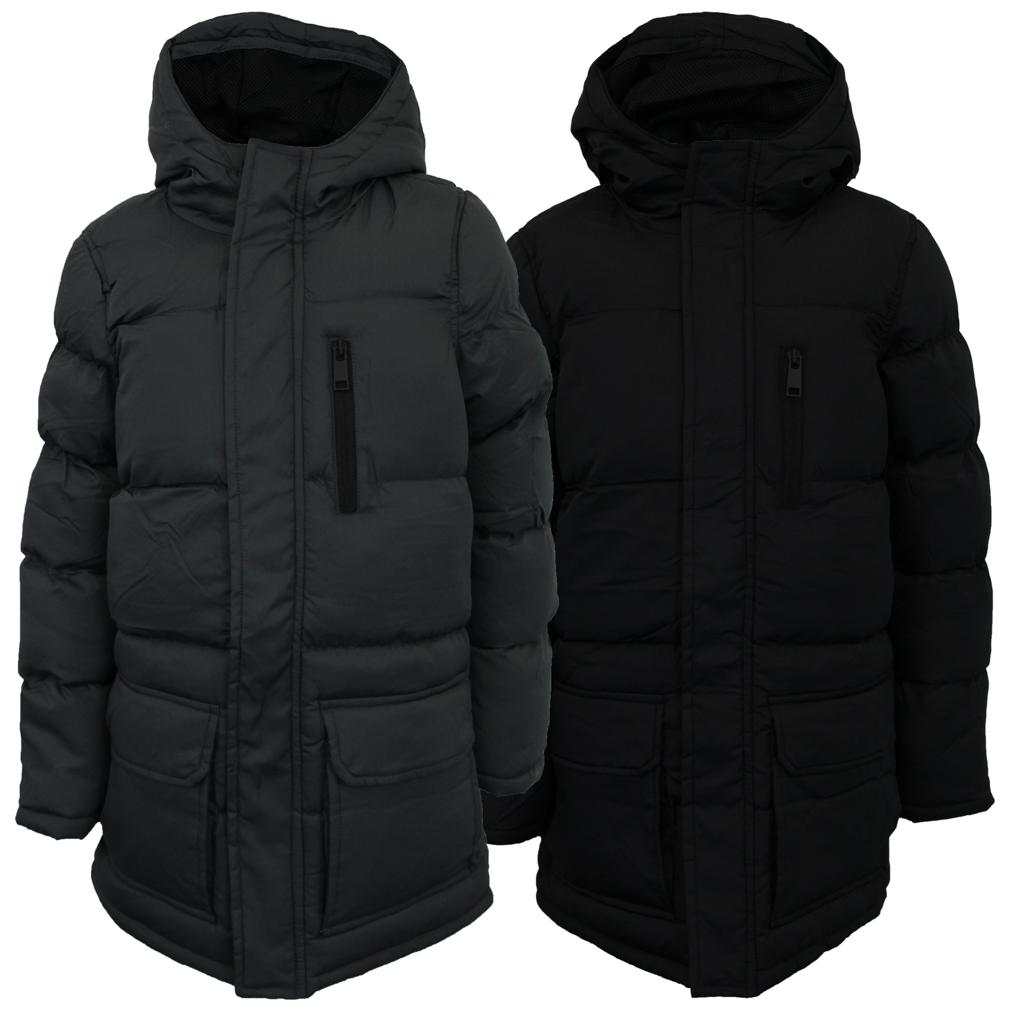 29b7fbcca Boys Parka Jacket Brave Soul Kids Long Coat School Padded Quilted ...