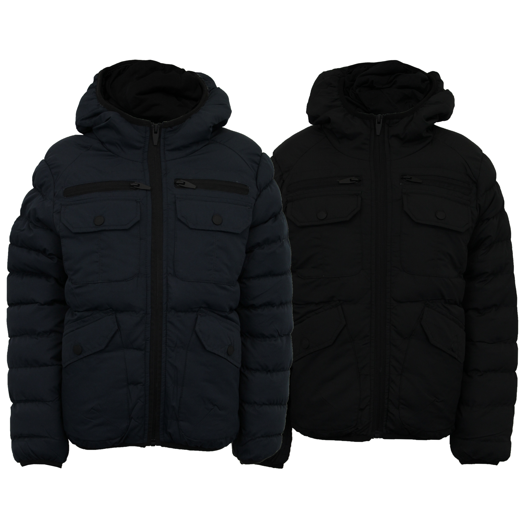 7a3ce1e32e17 Boys Padded Jacket Brave Soul Coat Kids School Quilted Hooded Casual ...