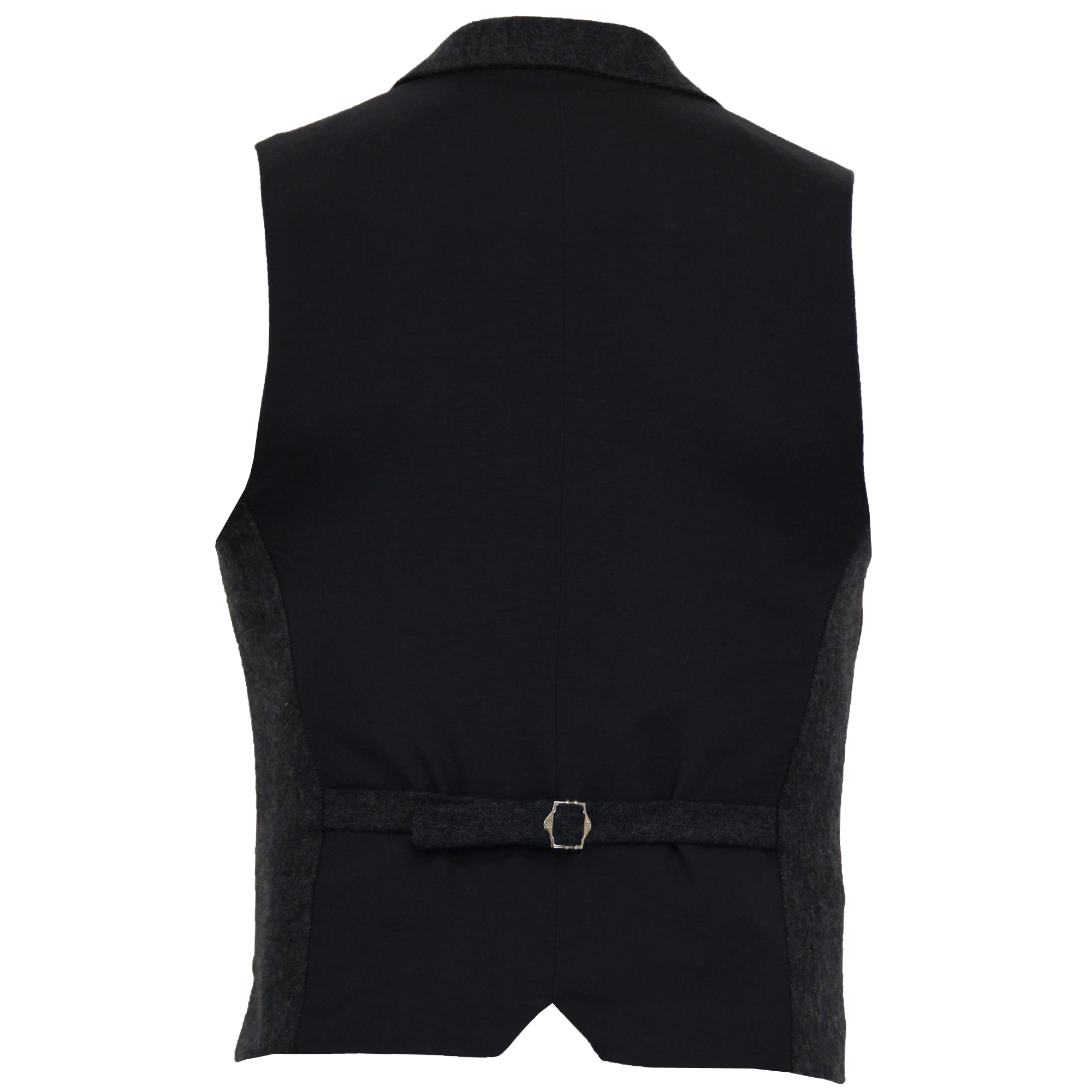 Mens-Waistcoat-Wool-Mix-Cavani-Formal-Vest-Herringbone-Tweed-Check-Party-Smart thumbnail 28