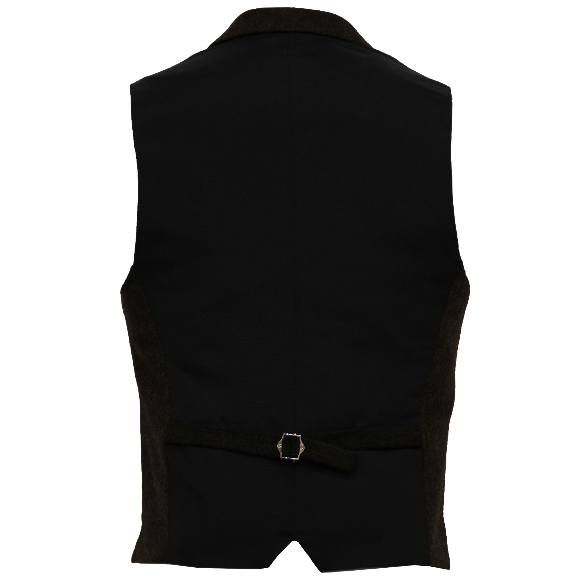 Mens-Waistcoat-Wool-Mix-Cavani-Formal-Vest-Herringbone-Tweed-Check-Party-Smart thumbnail 12