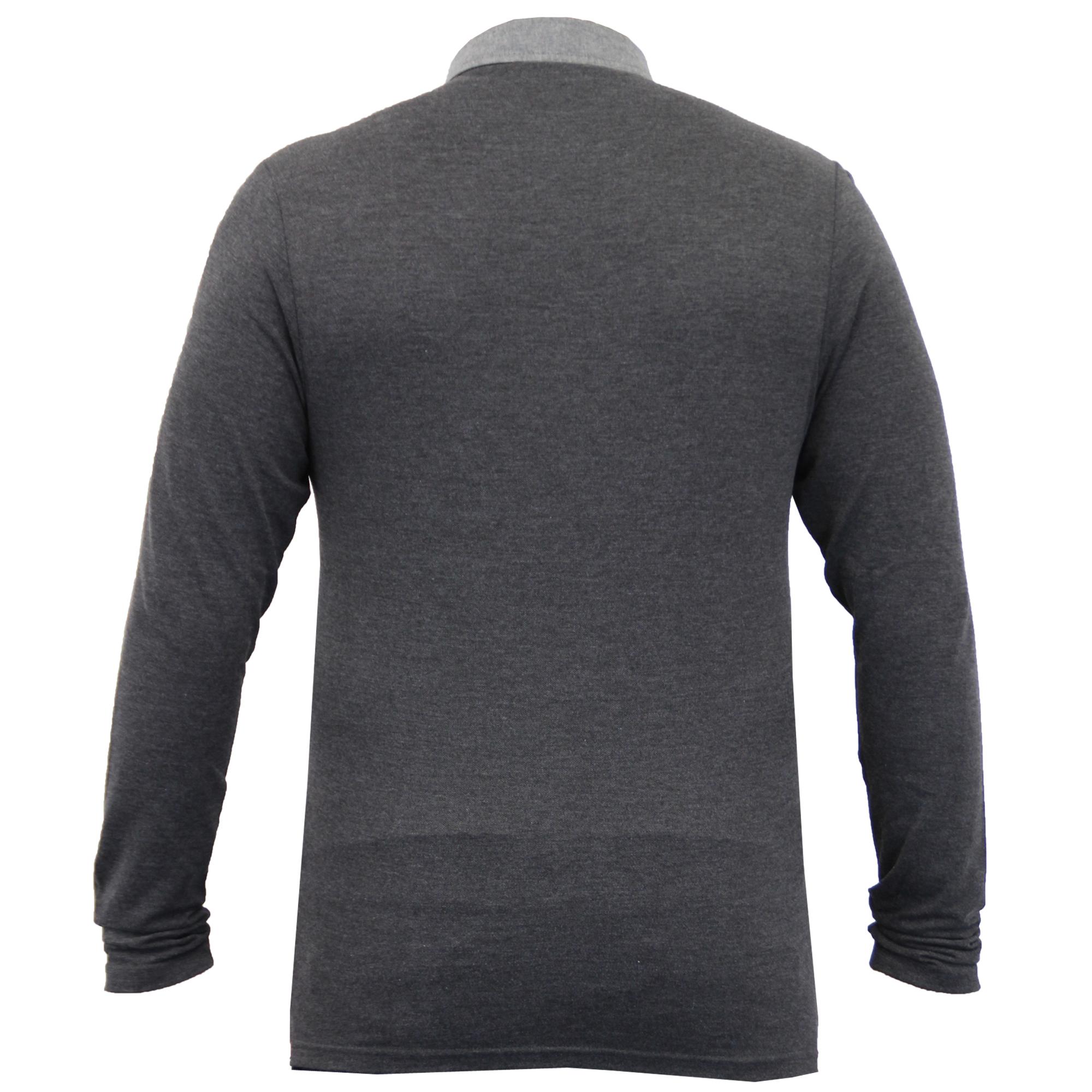 Homme-a-Manches-Longues-Jersey-Top-Brave-Soul-Pique-Polo-T-Shirt-A-Col-Ete-Neuf miniature 13