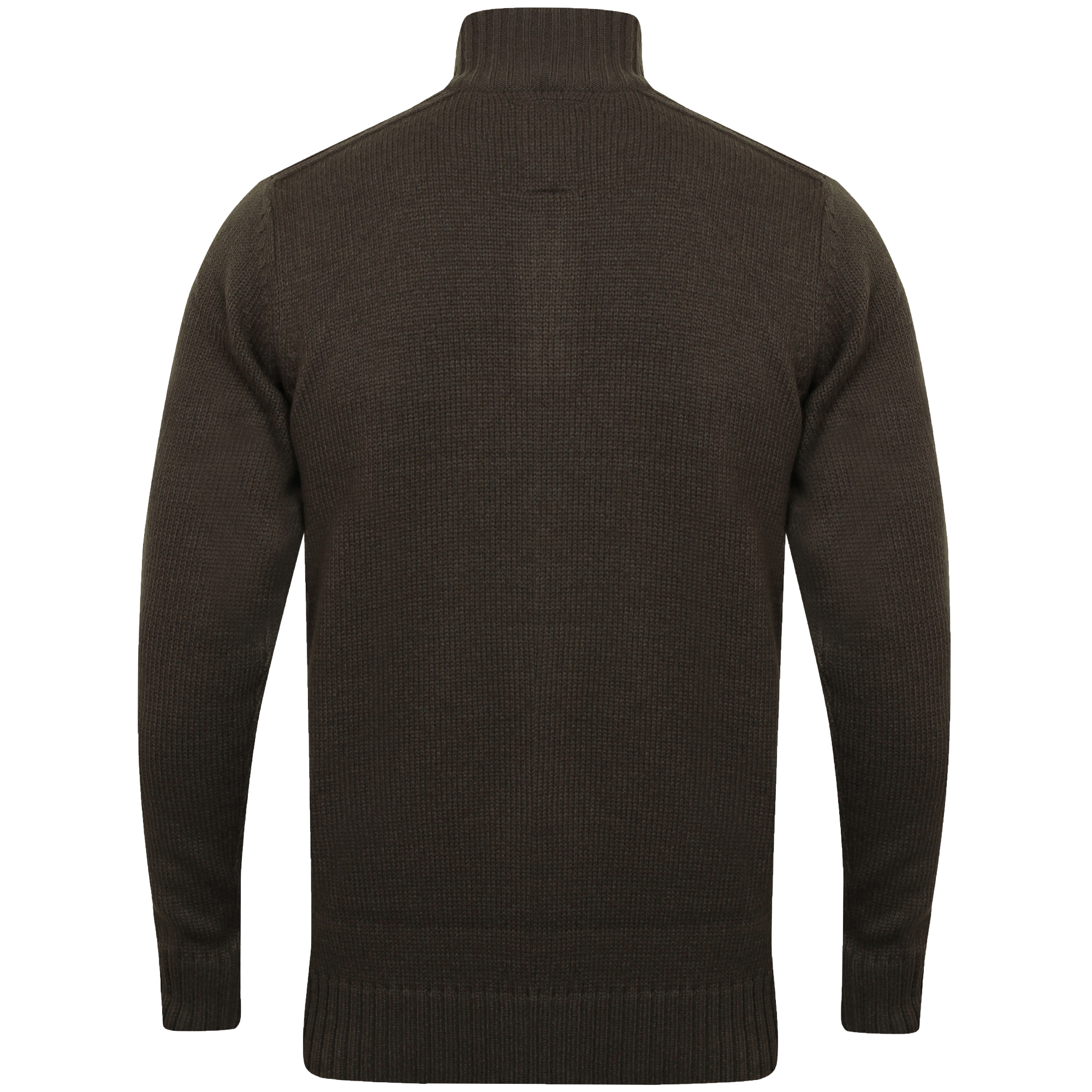 Mens-Knitted-Jumper-Kensington-Eastside-Pullover-Sweater-Top-Funnel-Neck-Winter thumbnail 3