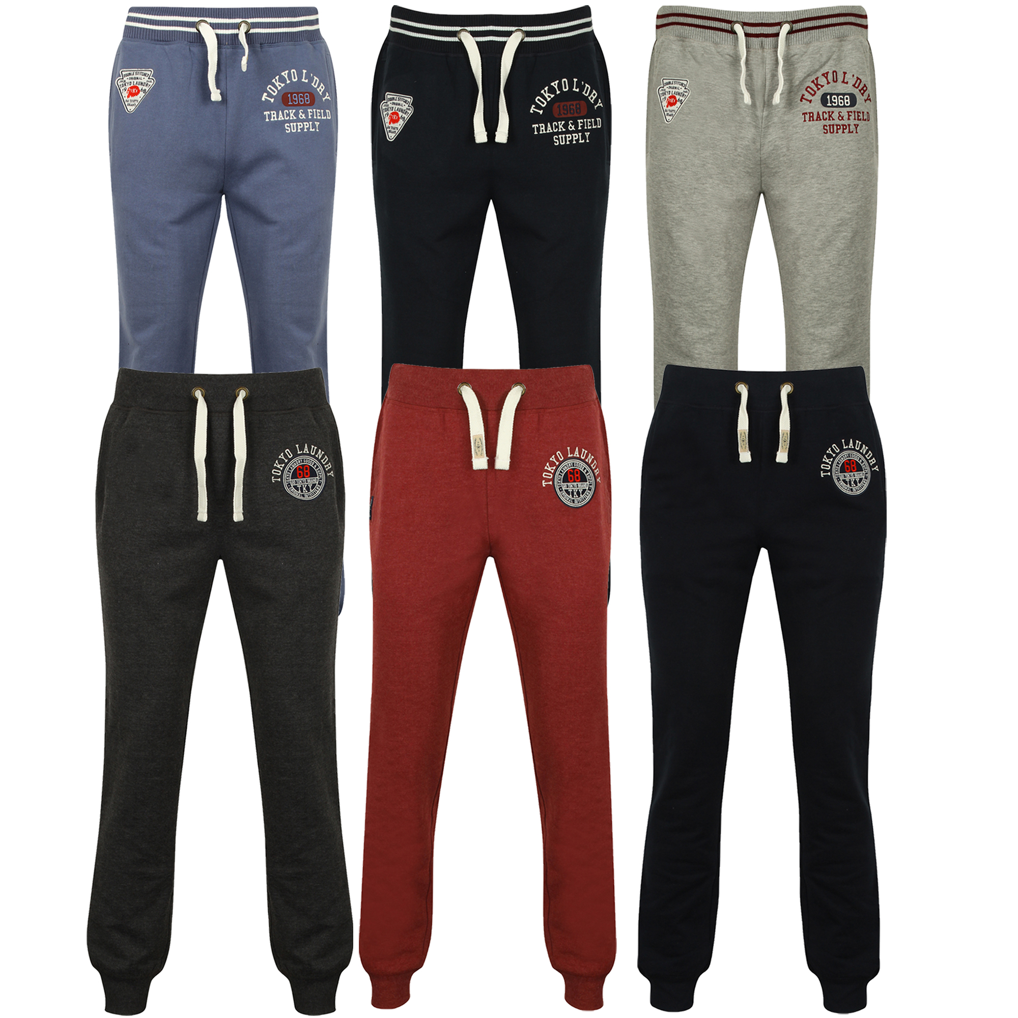 clearance sale free shipping cheapest price Details about Mens Bottoms Tokyo Laundry Trousers Pants Jogging Running  Fleece Lined Winter