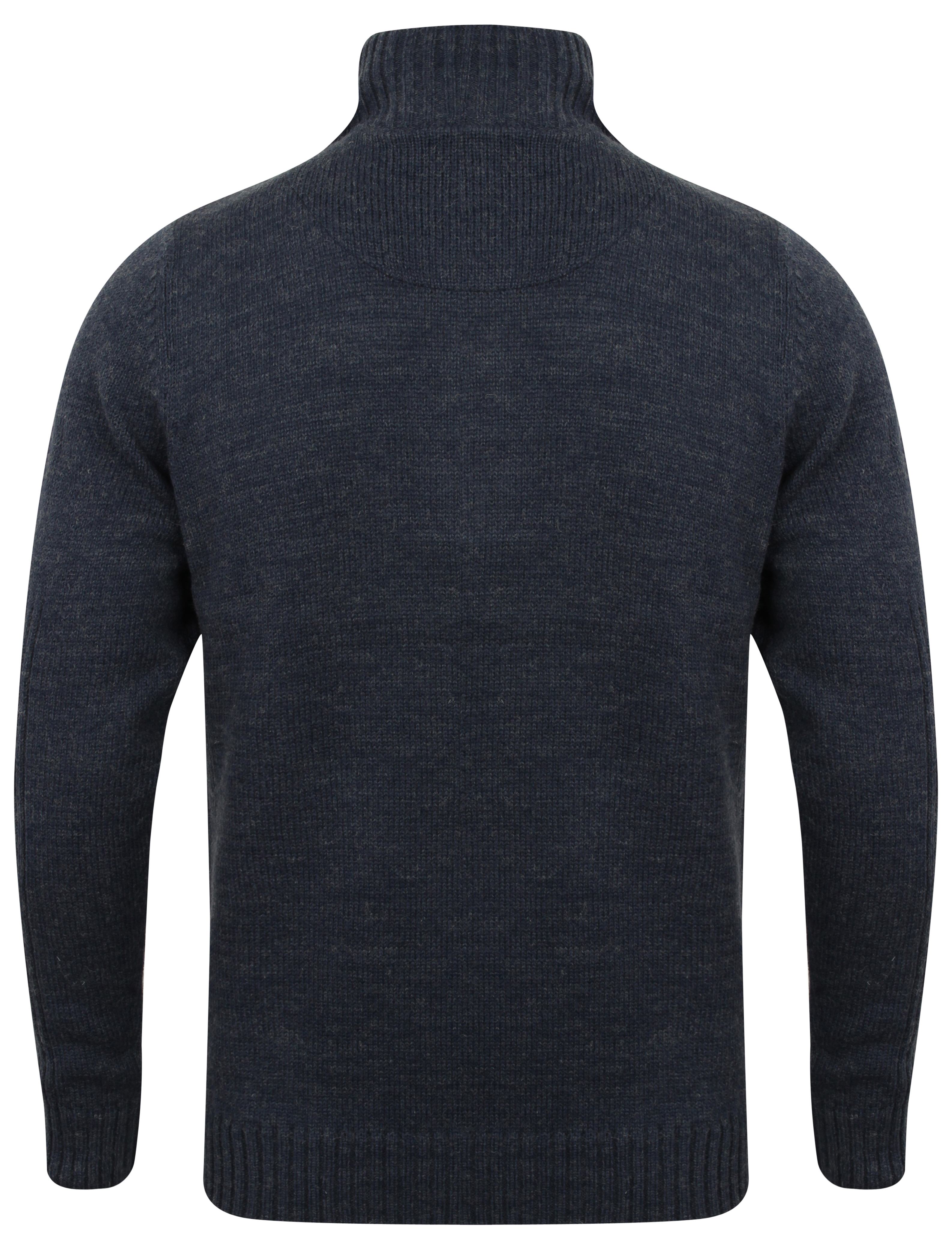 Mens-Wool-Mix-Knitted-Jumper-Dissident-Double-Layer-Funnel-Neck-Pullover-Sweater thumbnail 3