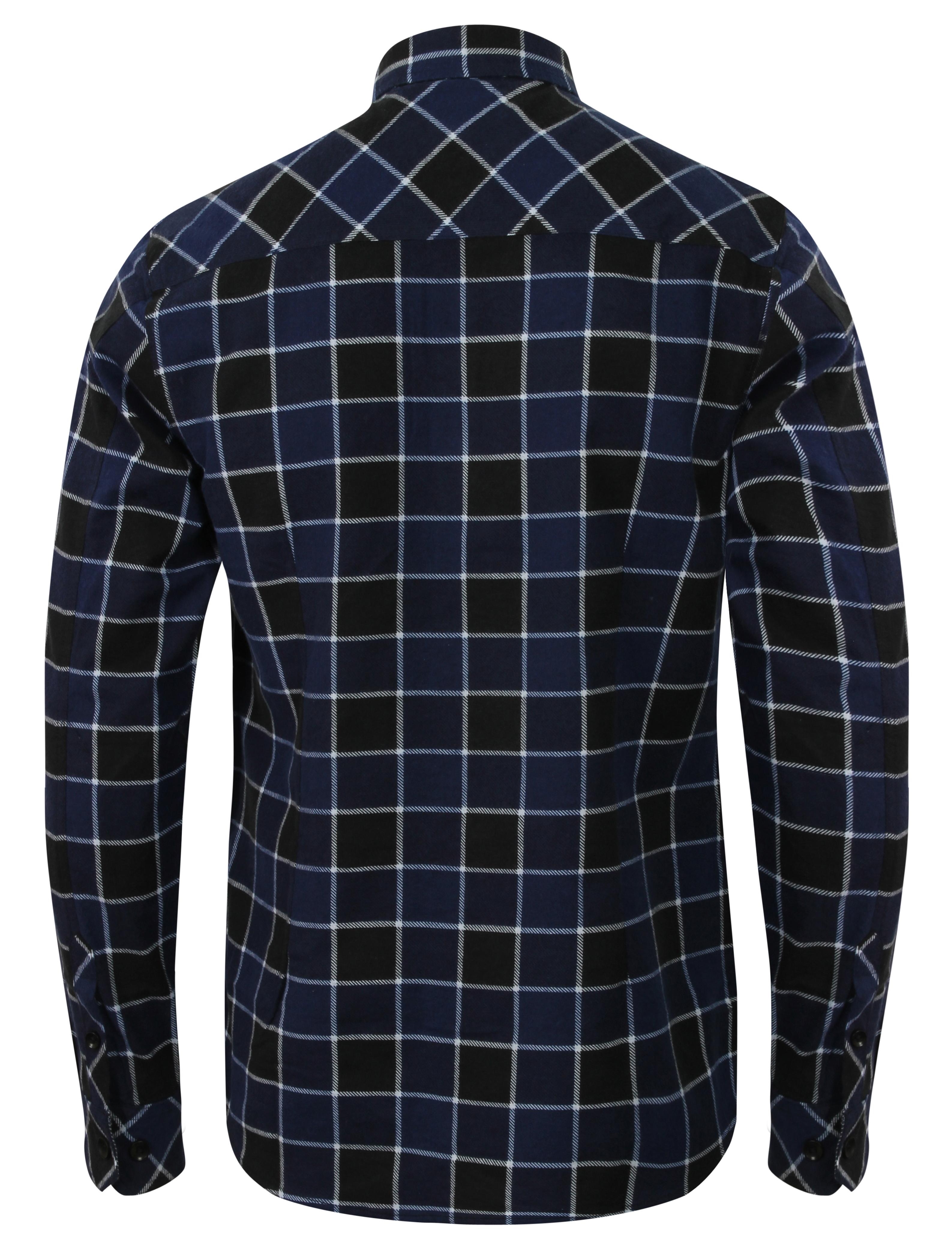 Mens-Shirt-Tokyo-Laundry-Tartan-Check-Flannel-Top-Collared-Long-Sleeved-Casual thumbnail 3