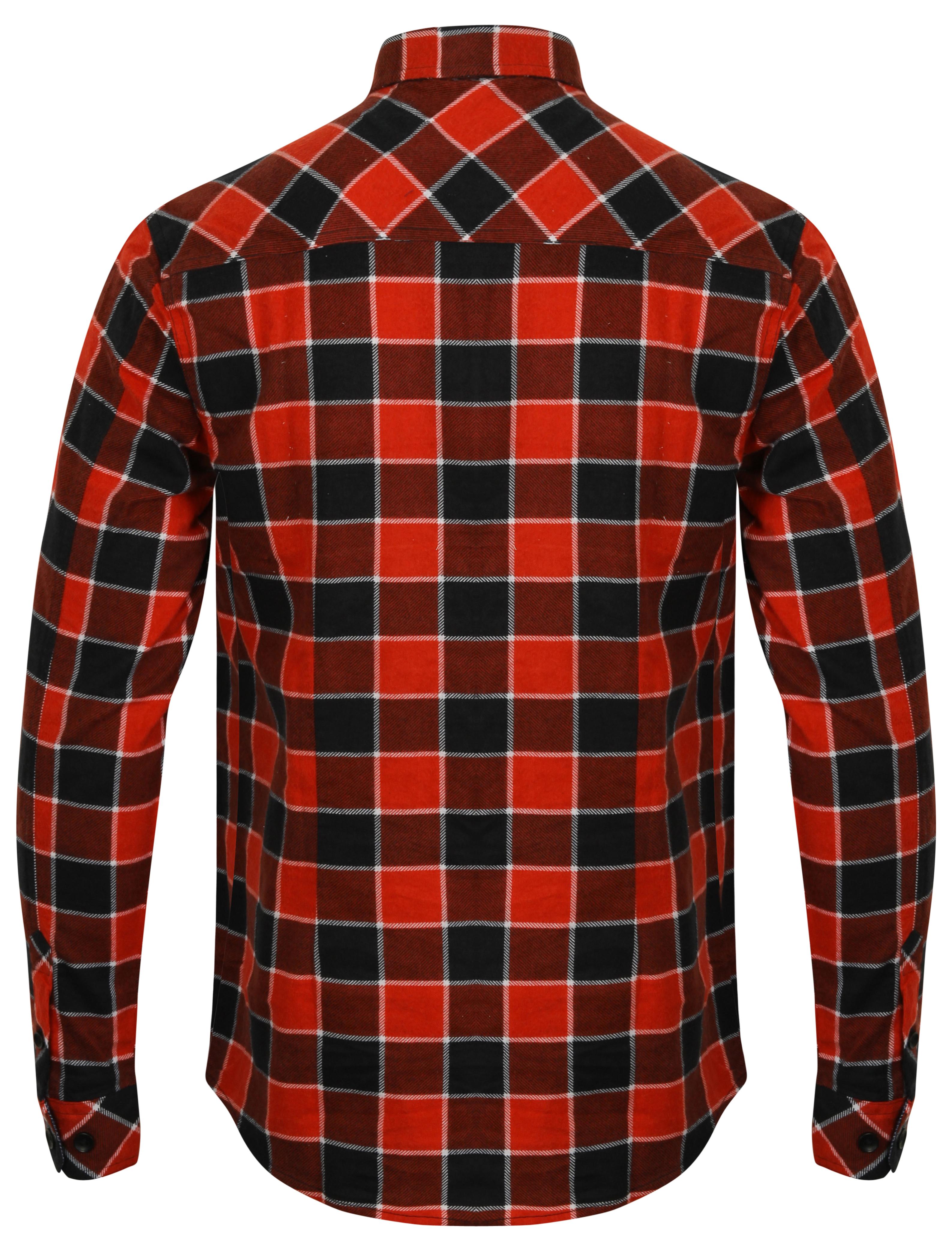 Mens-Shirt-Tokyo-Laundry-Tartan-Check-Flannel-Top-Collared-Long-Sleeved-Casual thumbnail 10