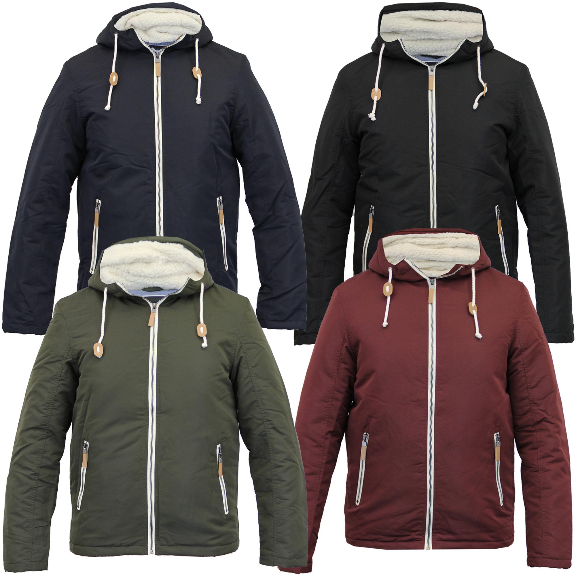 Mens Jacket Brave Soul Sweat Coat Hoodie Top Sherpa Fleece Zip Casual Winter New