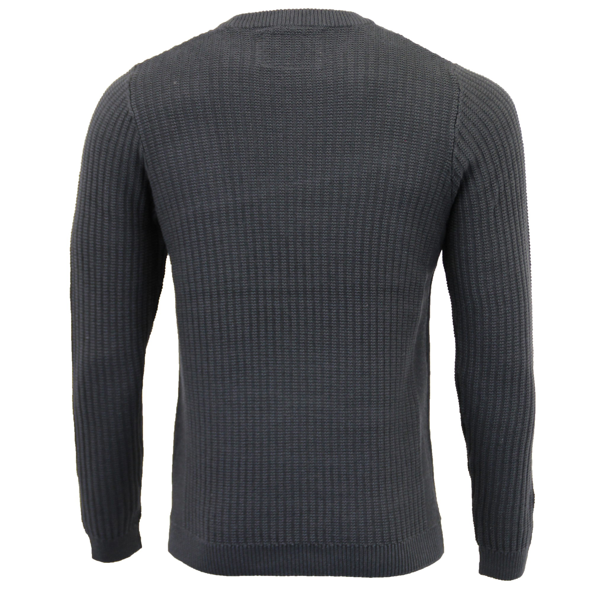 Mens-Knitted-Jumper-Tokyo-Laundry-Ribbed-Sweater-Pullover-Top-Crew-Neck-Winter thumbnail 3
