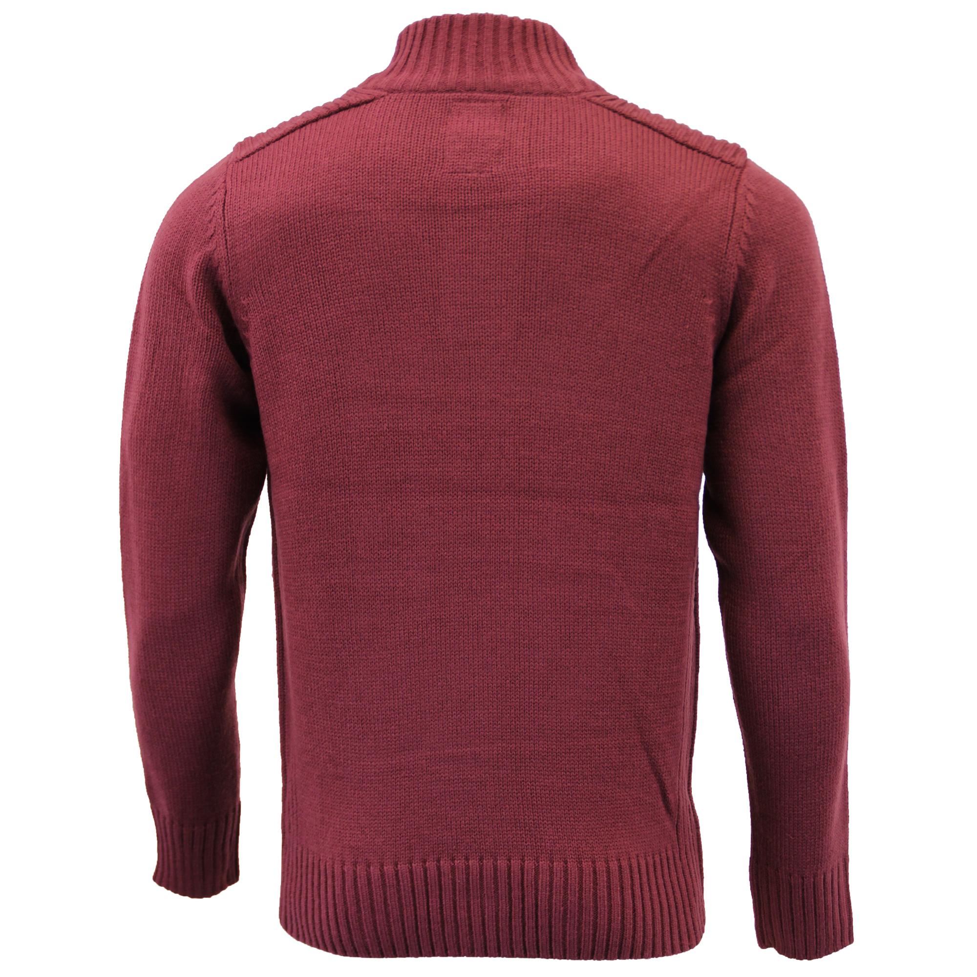Mens-Knitted-Jumper-Kensington-Eastside-Sweater-Pullover-Top-Funnel-Neck-Winter thumbnail 8