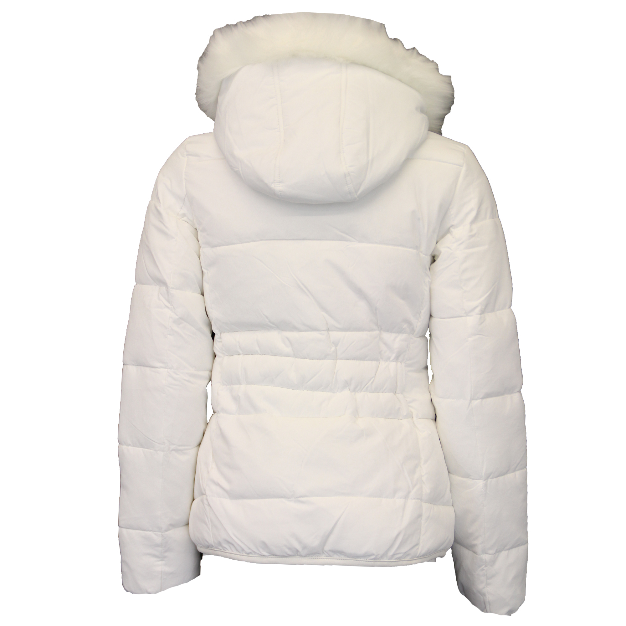 7d1aae30c Details about Ladies Parka Jacket Womens Brave Soul Coat Padded Wadded  Hoodie Fur PVC Winter