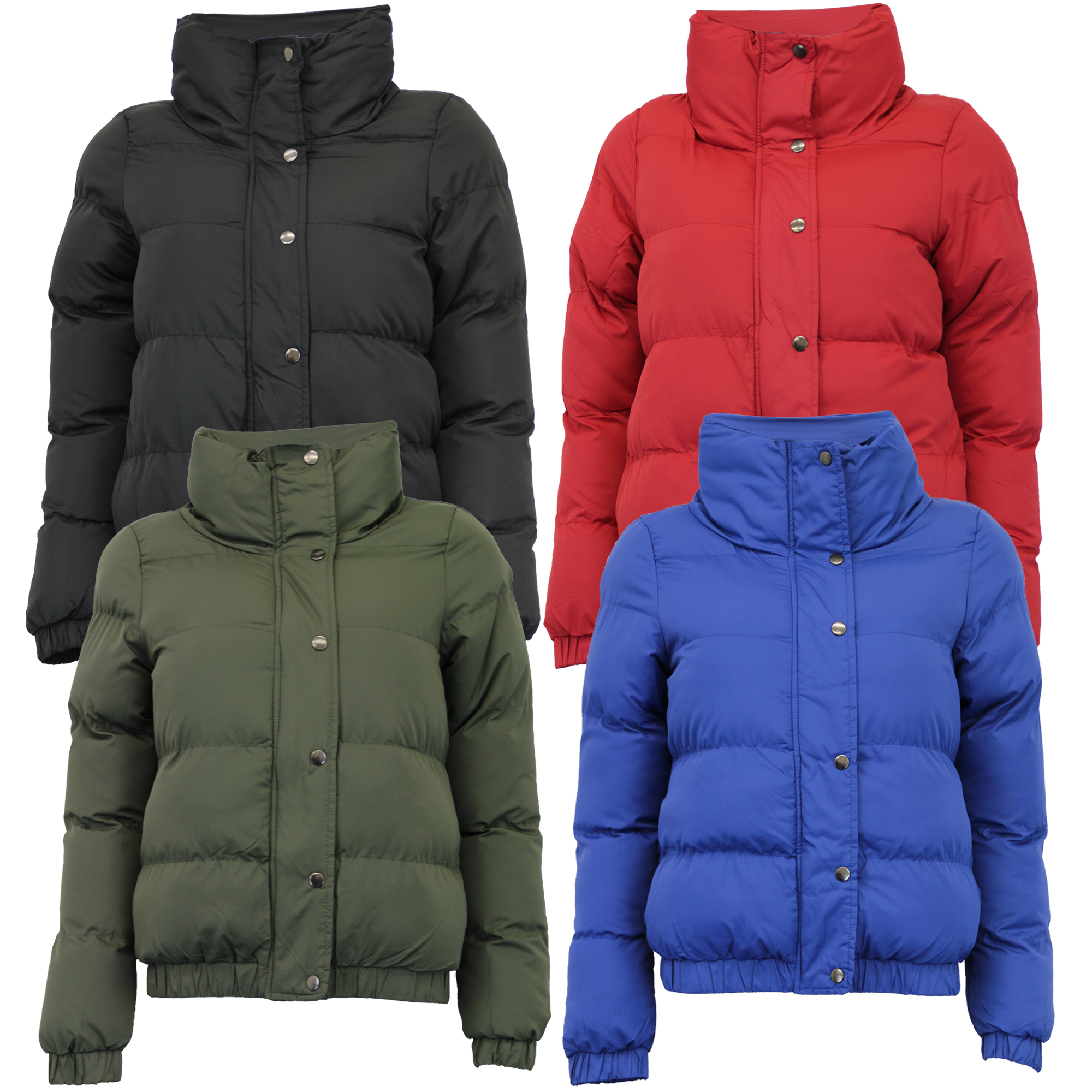 Details about ladies jacket Brave Soul womens coat padded quilted bomber  funnel neck winter 60e6dcdbd7