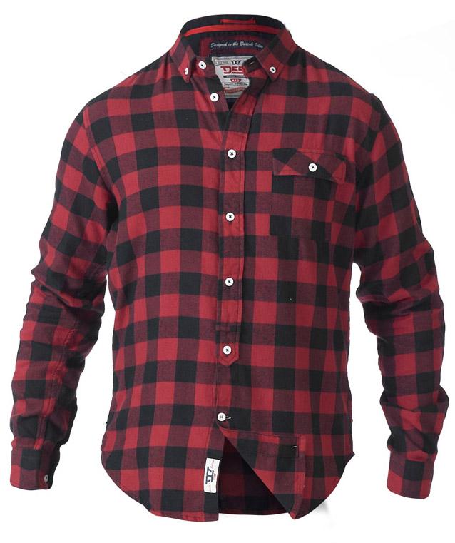 Mens Checked Tartan Shirts D555 Duke Big King Size Flannel