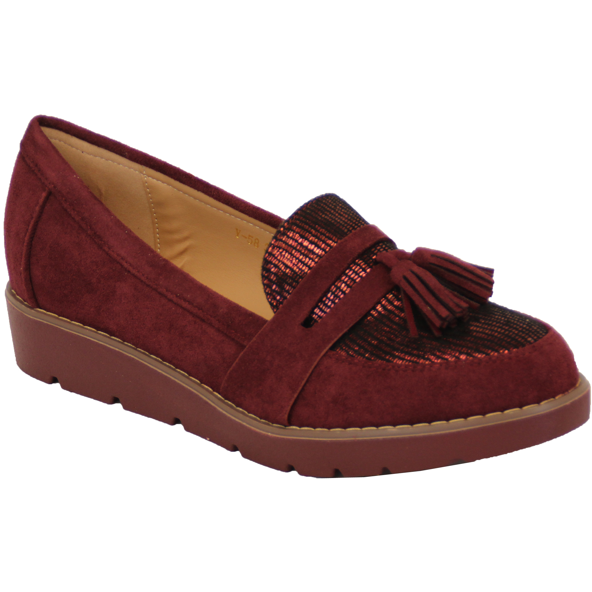 Womens Wedge Loafer Shoes