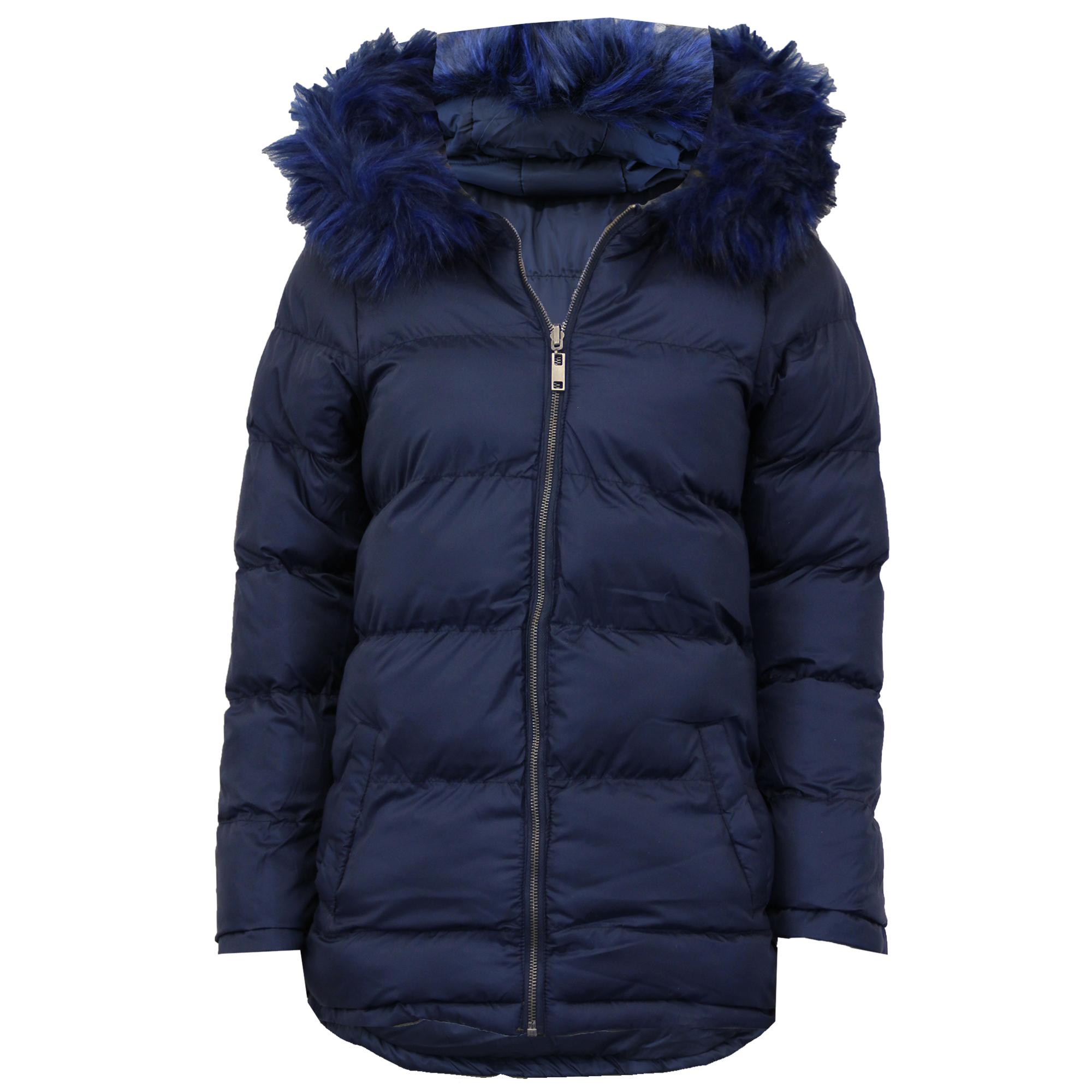 Ladies Parka Jacket Brave Soul Womens Long REVERSIBLE Fur Coat Padded Hoodie New