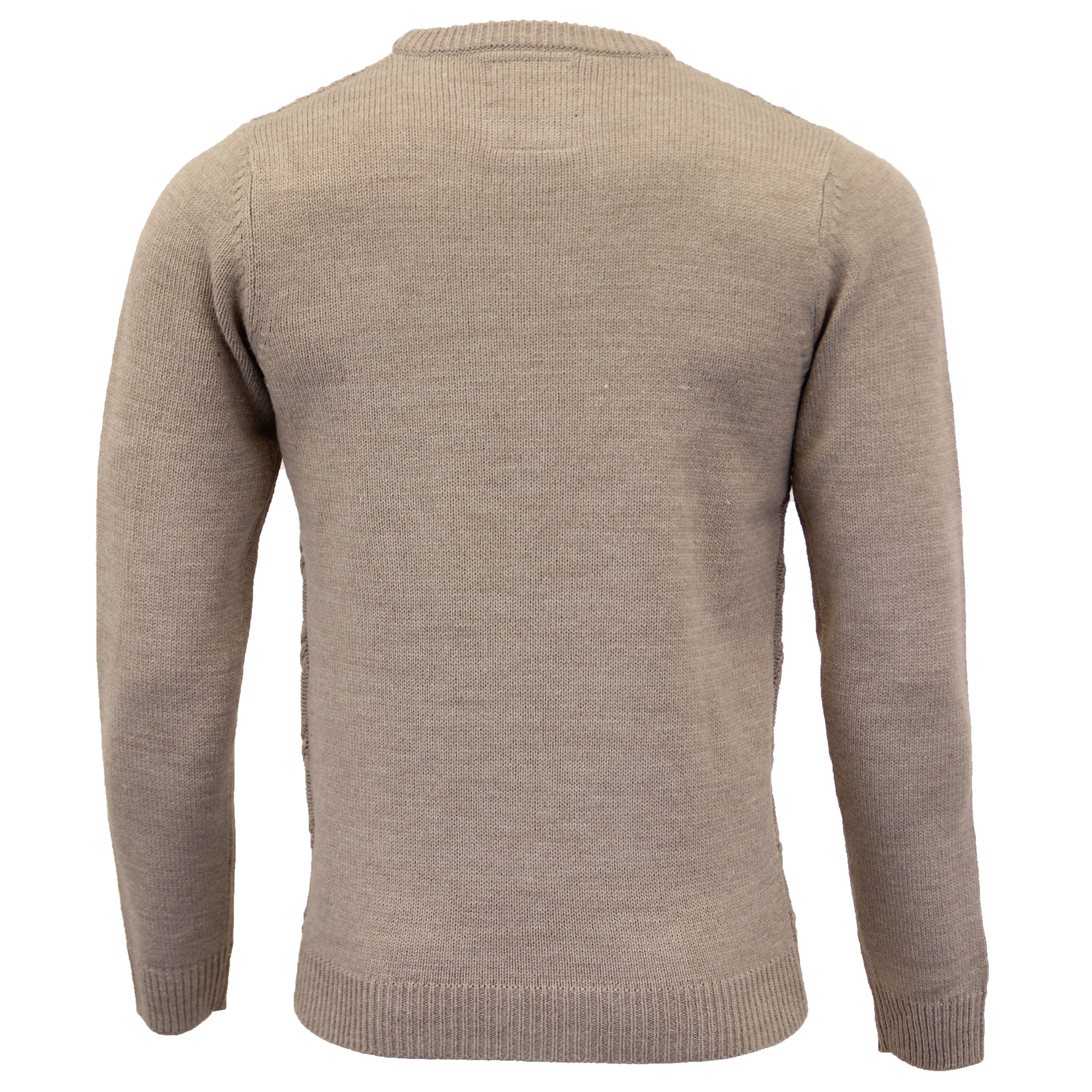 Mens Jumpers Threadbare Knitted Sweater Pullover Top Crew Neck Casual Winter New