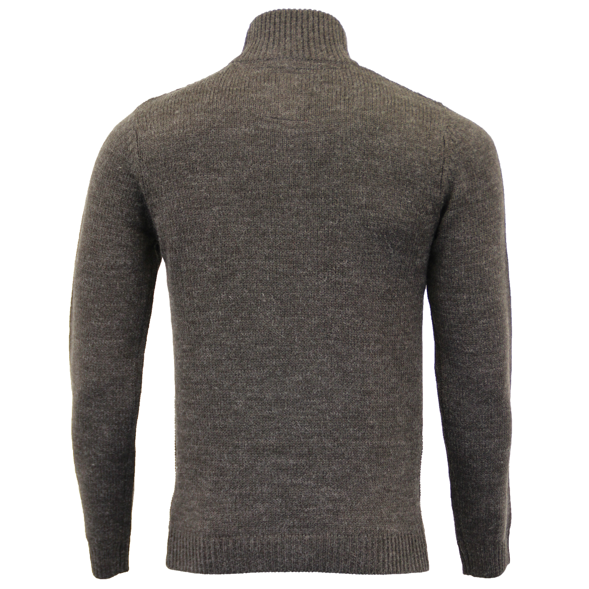 Mens-Wool-Mix-Jumper-Threadbare-Knitted-Sweater-Pullover-Top-Chunky-Zip-Winter thumbnail 18