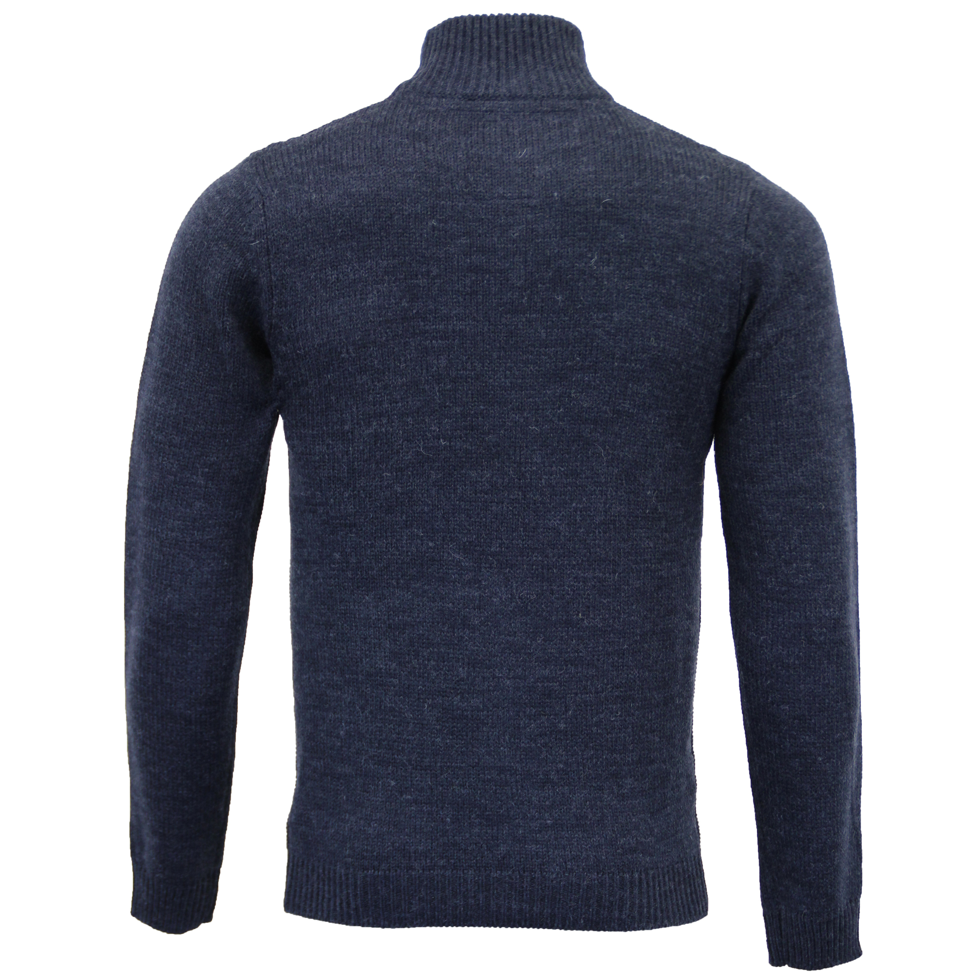 Mens-Wool-Mix-Jumper-Threadbare-Knitted-Sweater-Pullover-Top-Chunky-Zip-Winter thumbnail 27