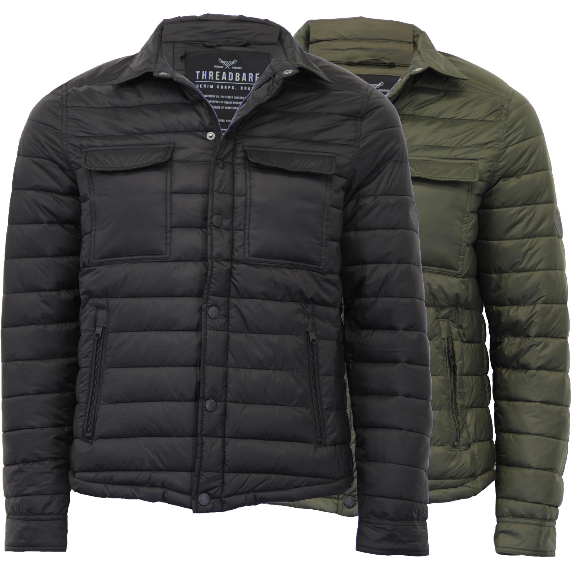 Threadbare Mens Padded Quilted Jacket Coat Warm Lightweight Winter Fashion Hippo